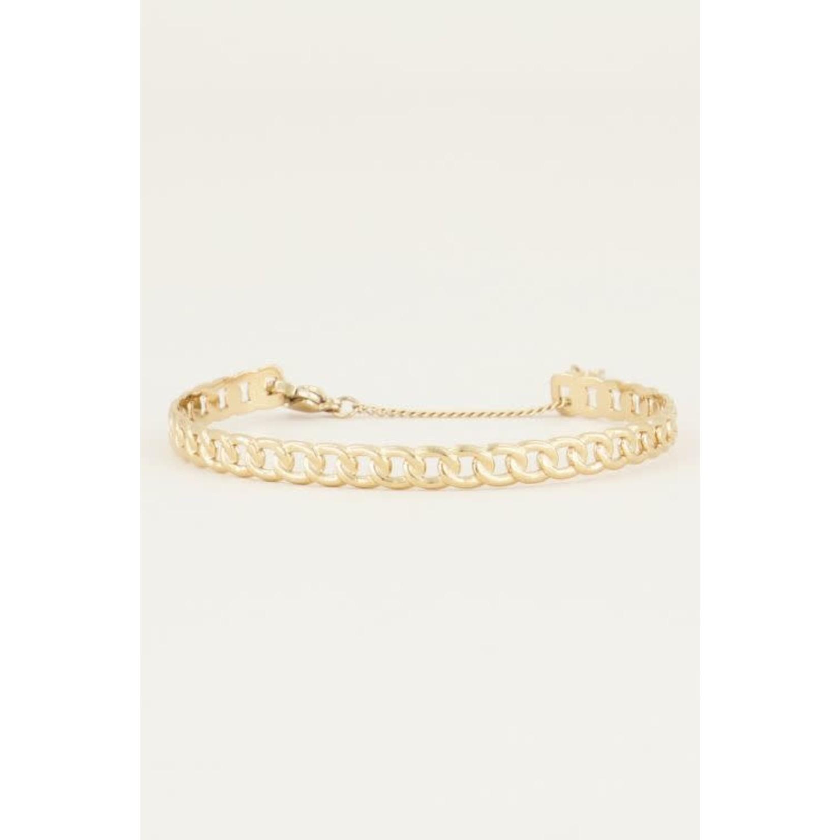 My Jewellery My Jewellery bangle platte schakels goud