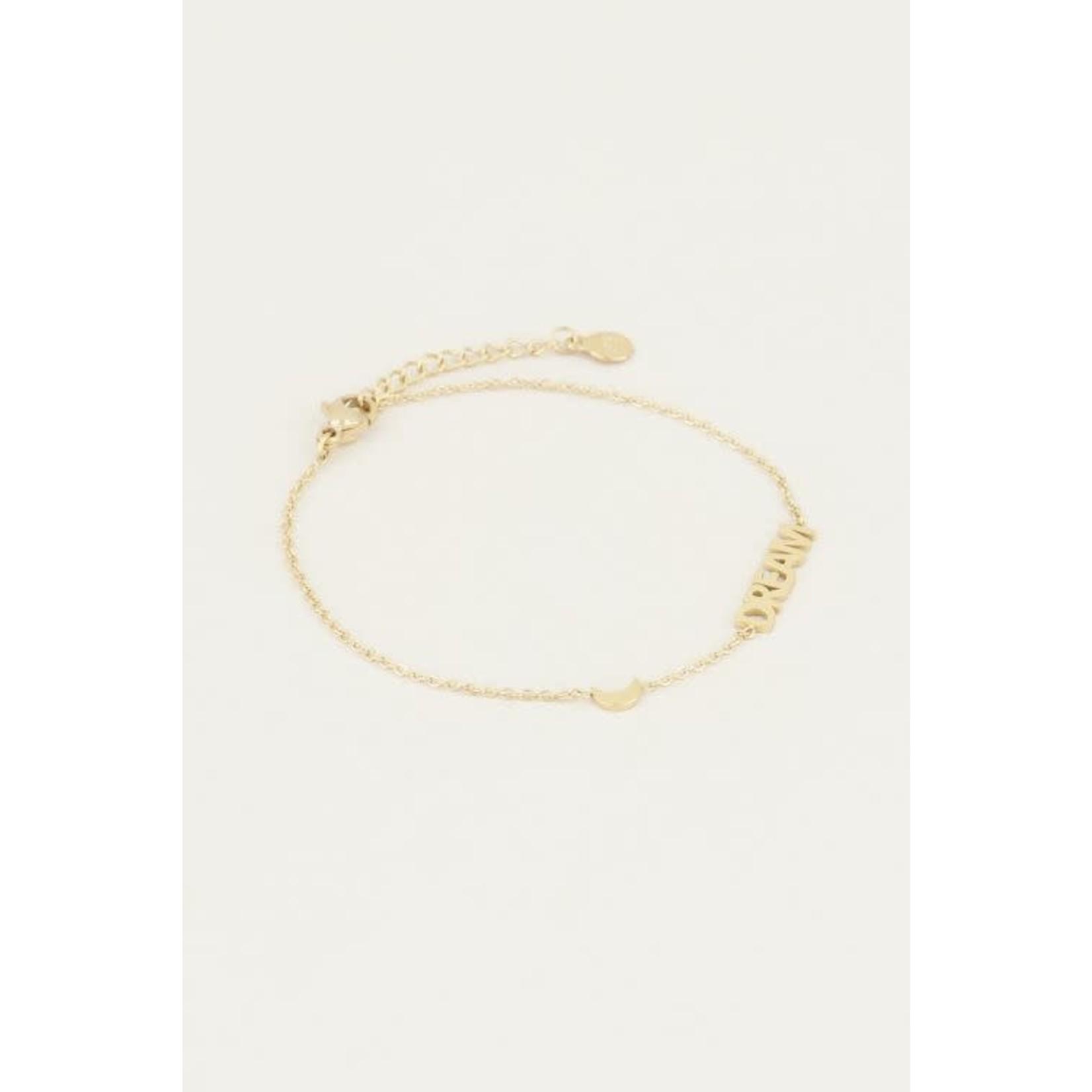 My Jewellery My jewellery armband dream met maantje Goud