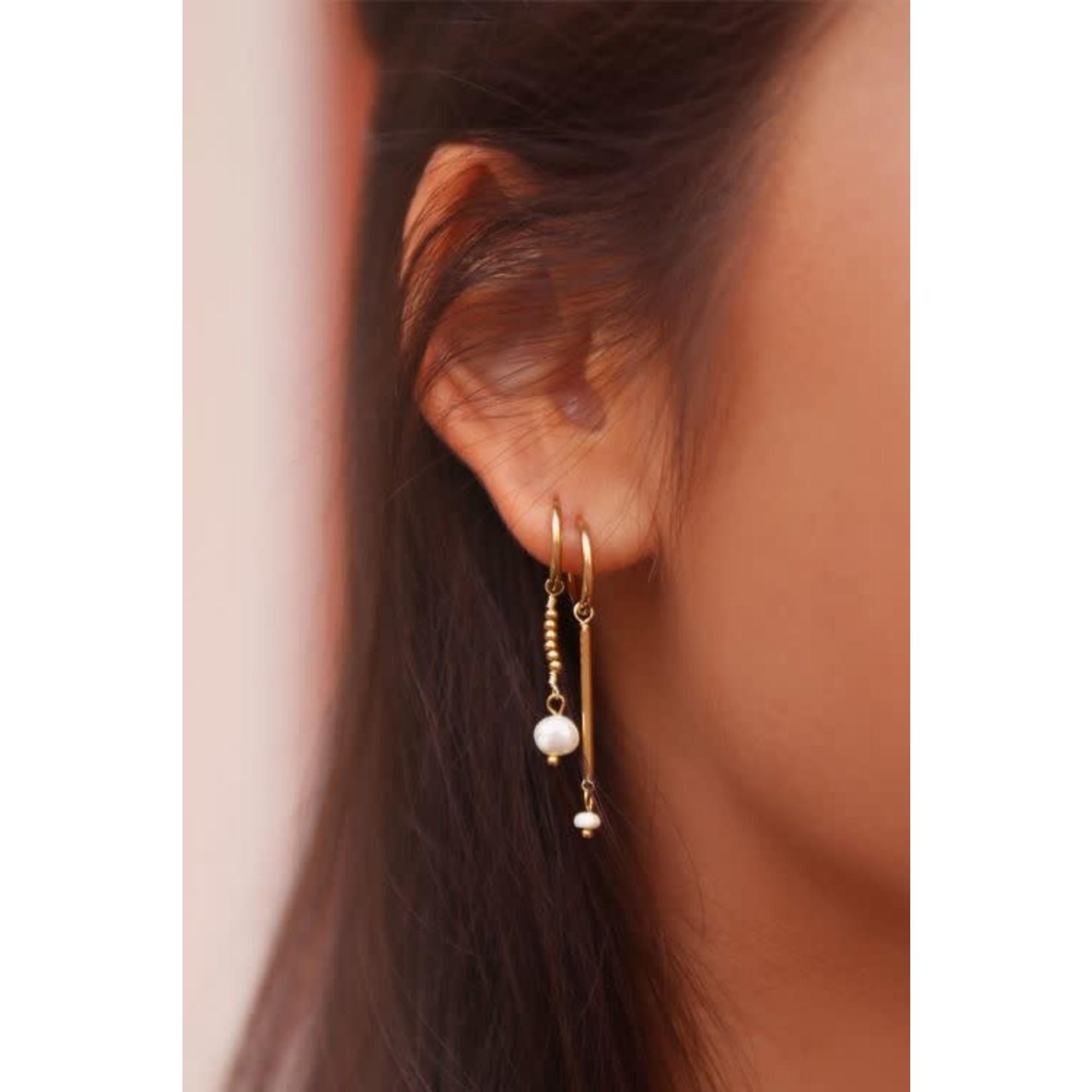 My Jewellery My Jewellery parel Oorbellen met hanger Goud