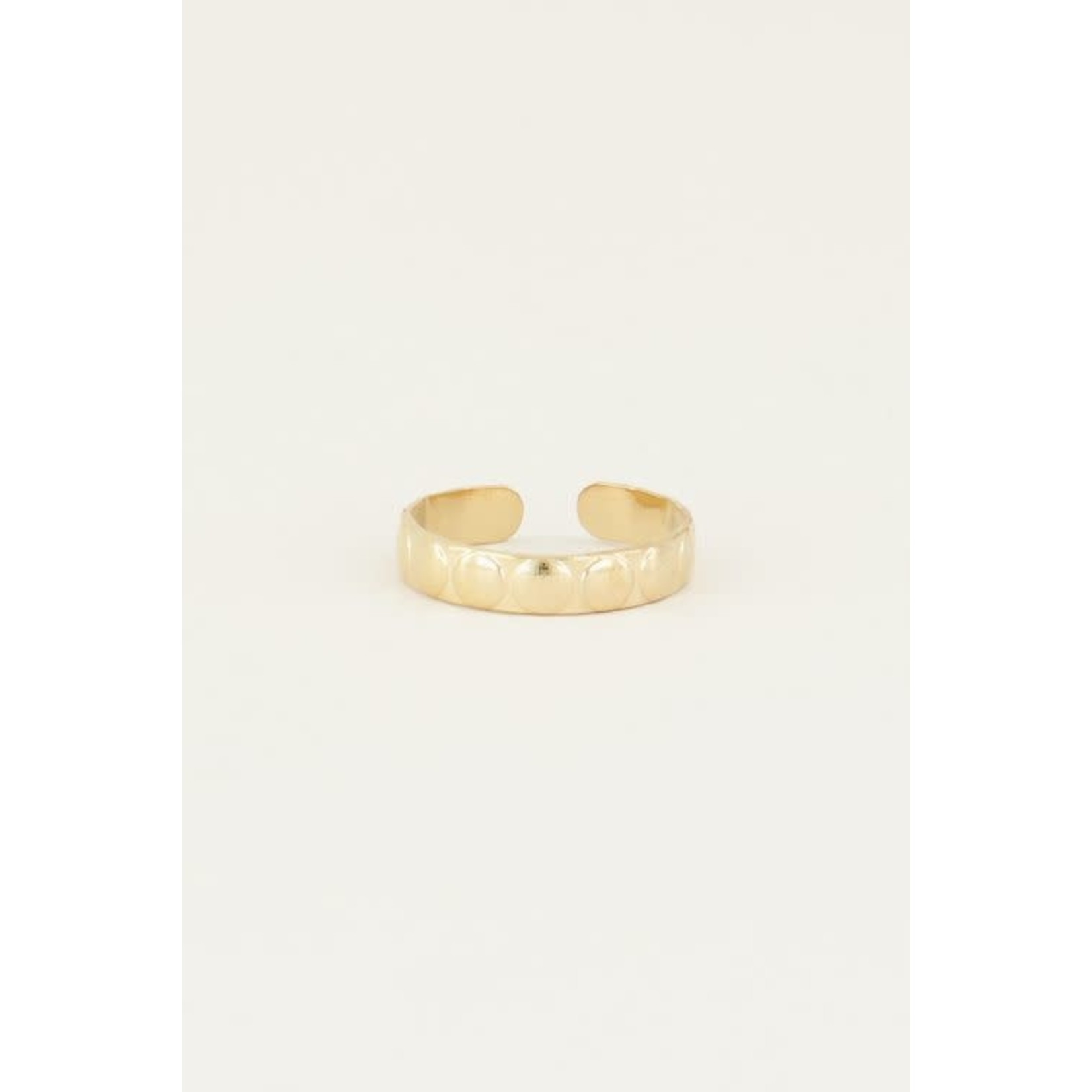 My Jewellery My Jewellery Ring brede bolletjes goud