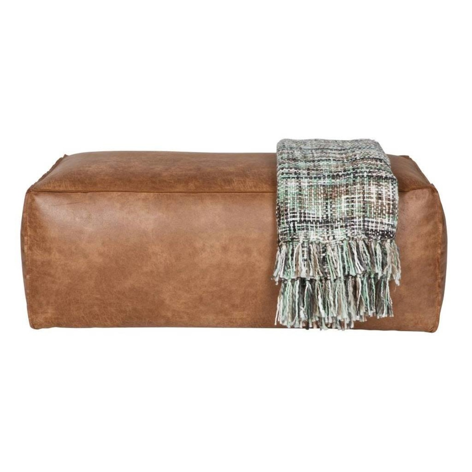 Be Pure Home Rodeo Poef 43x120x60 Cognac