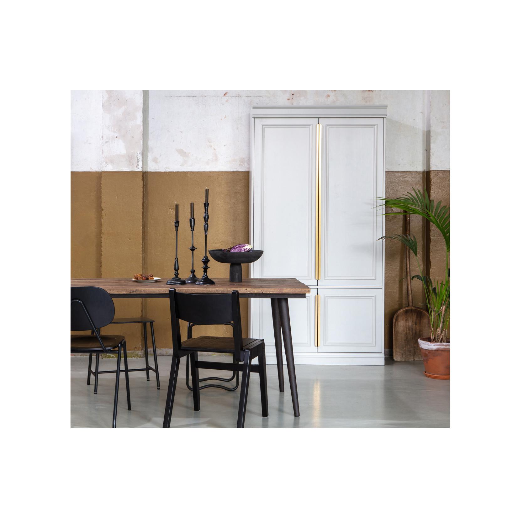 Be Pure Home Guild Tafel Naturel Met Zwart Onderstel 220x90