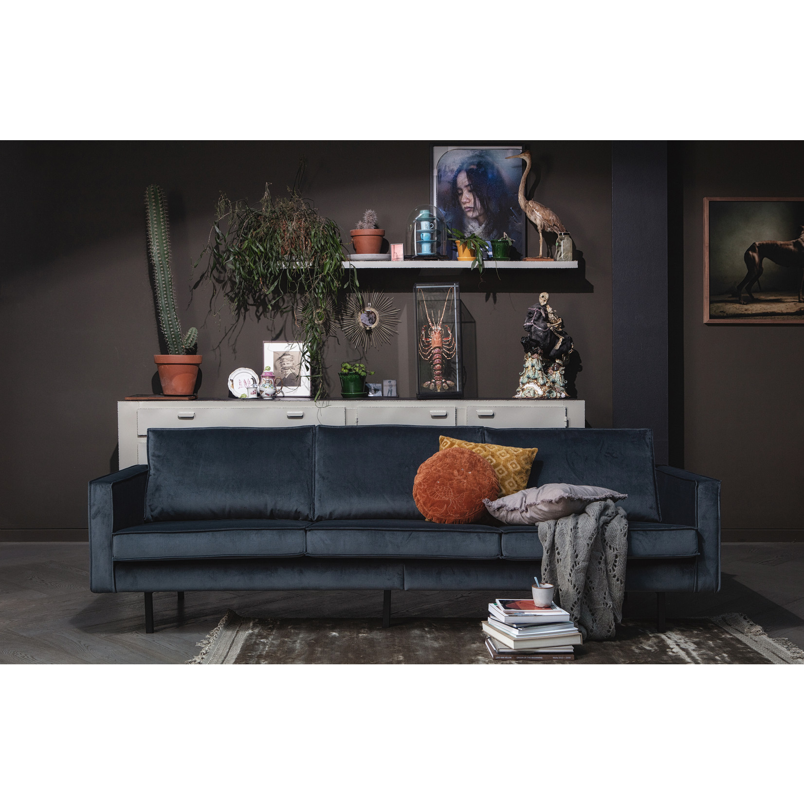 Be Pure Home Rodeo Bank 3-zits Velvet Teal