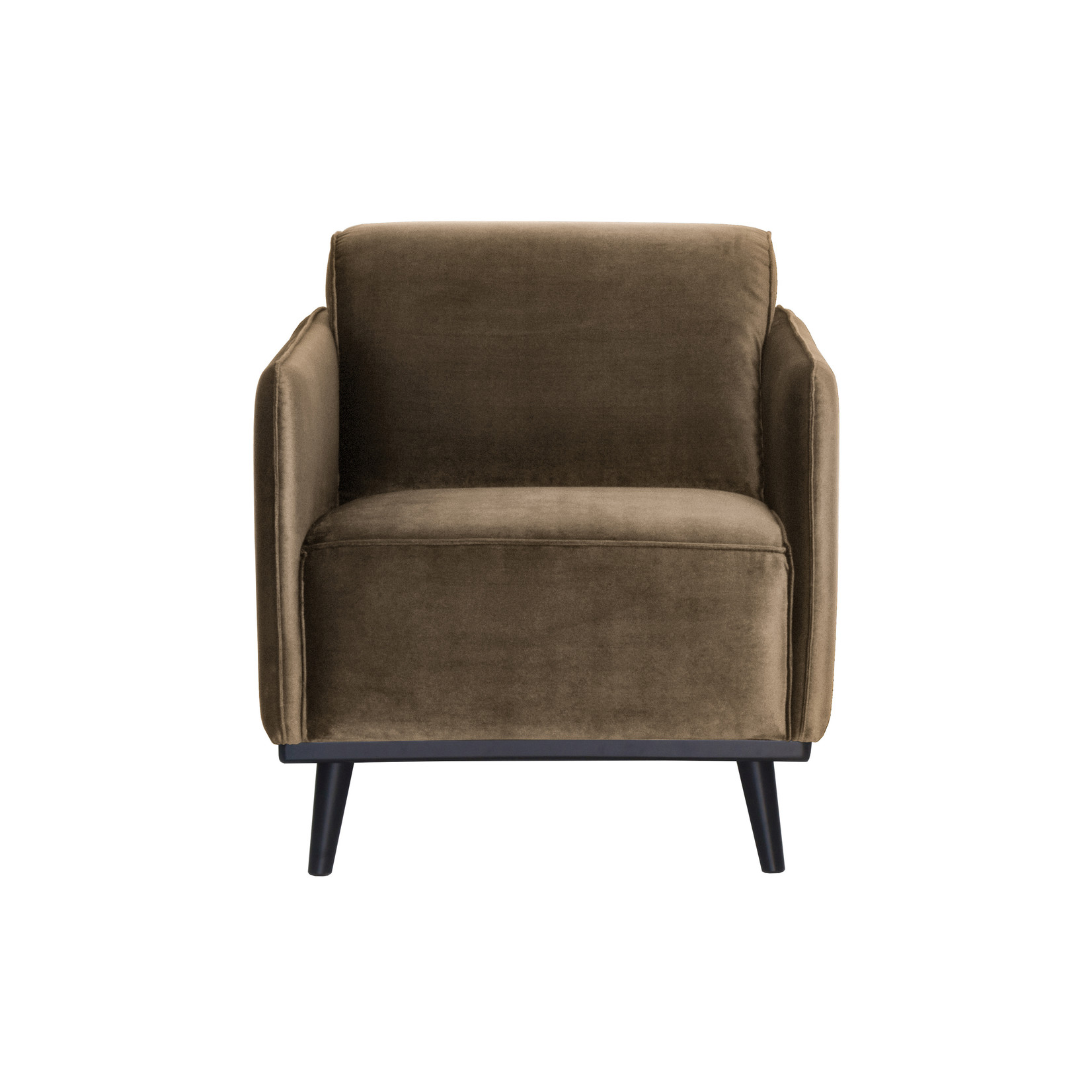 Be Pure Home Statement Fauteuil Met Arm Fluweel Taupe