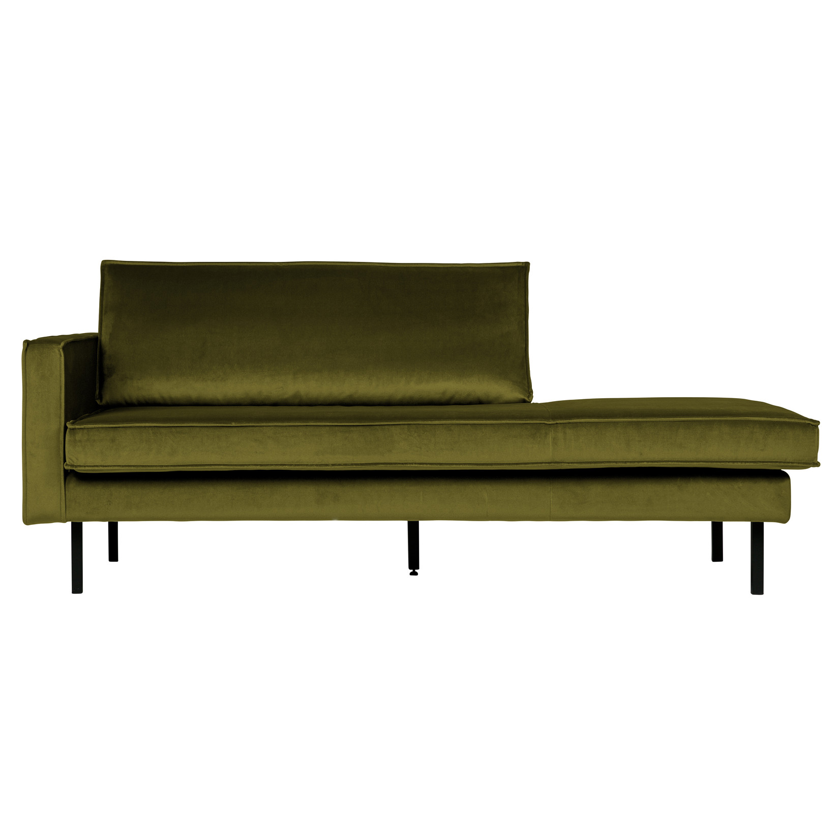 Be Pure Home Rodeo Daybed Left Velvet Olive