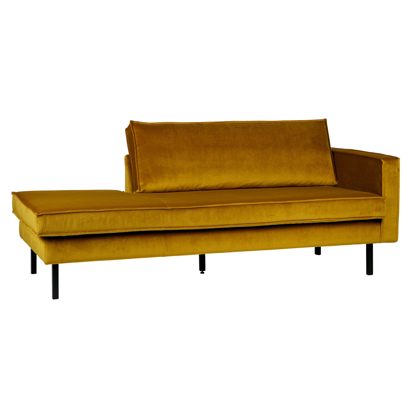 Be Pure Home Rodeo Daybed Right Velvet Oker