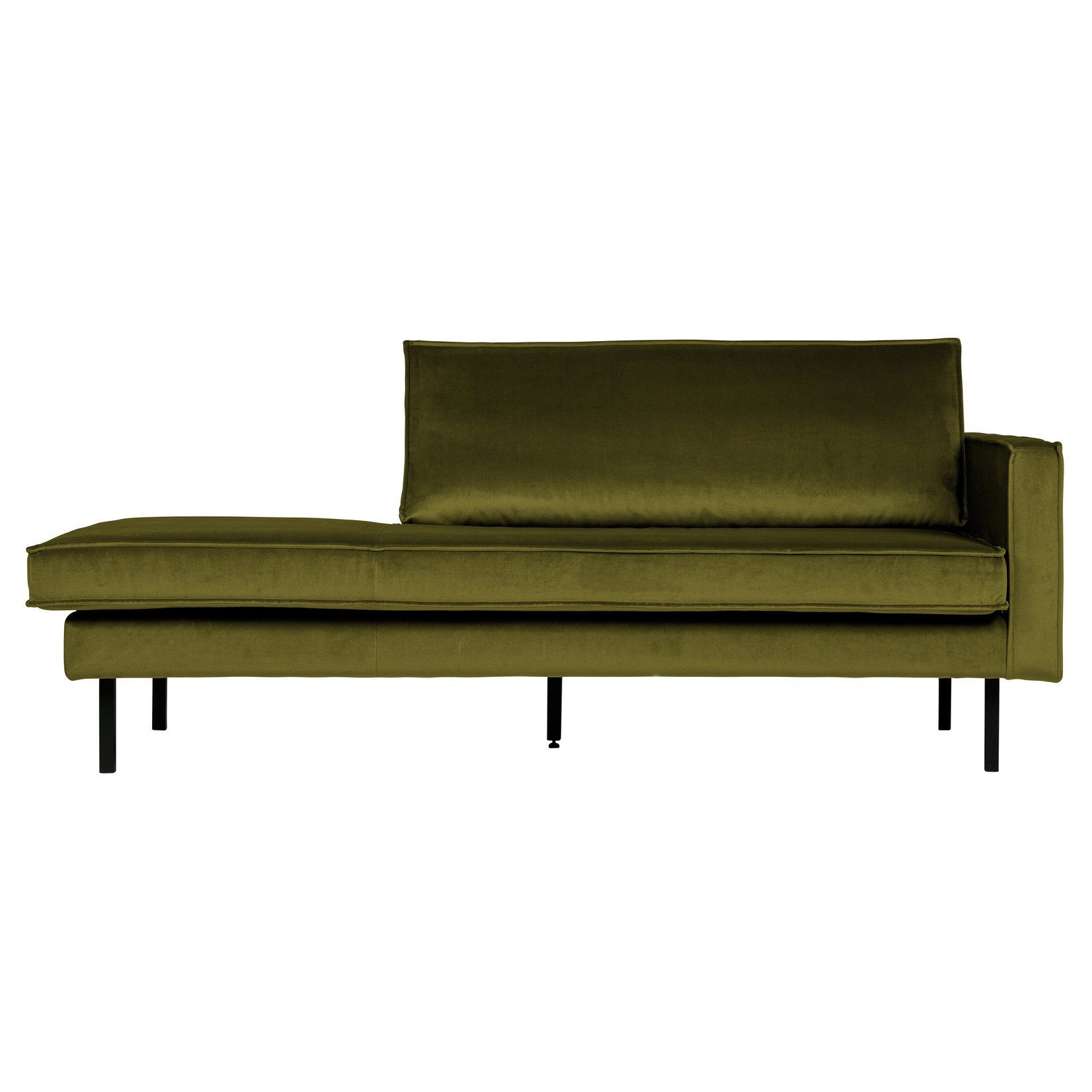Be Pure Home Rodeo Daybed Right Velvet Olive