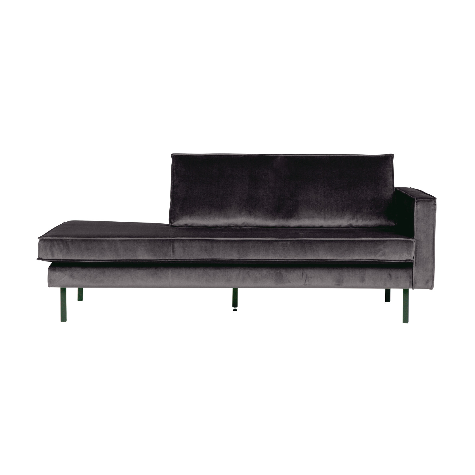 Be Pure Home Rodeo Daybed Right Velvet Antraciet