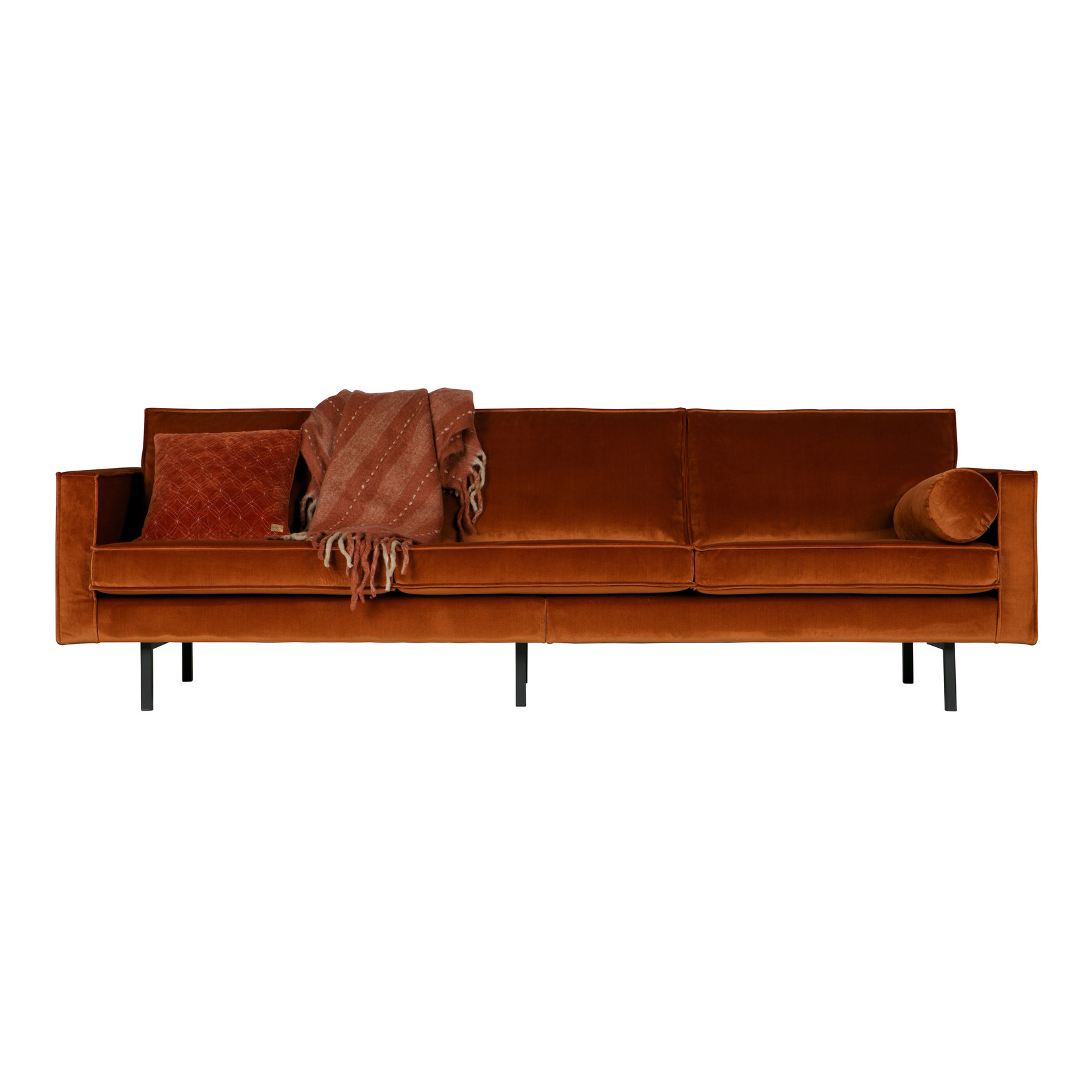 Be Pure Home Rodeo Bank 3-zits Velvet Roest