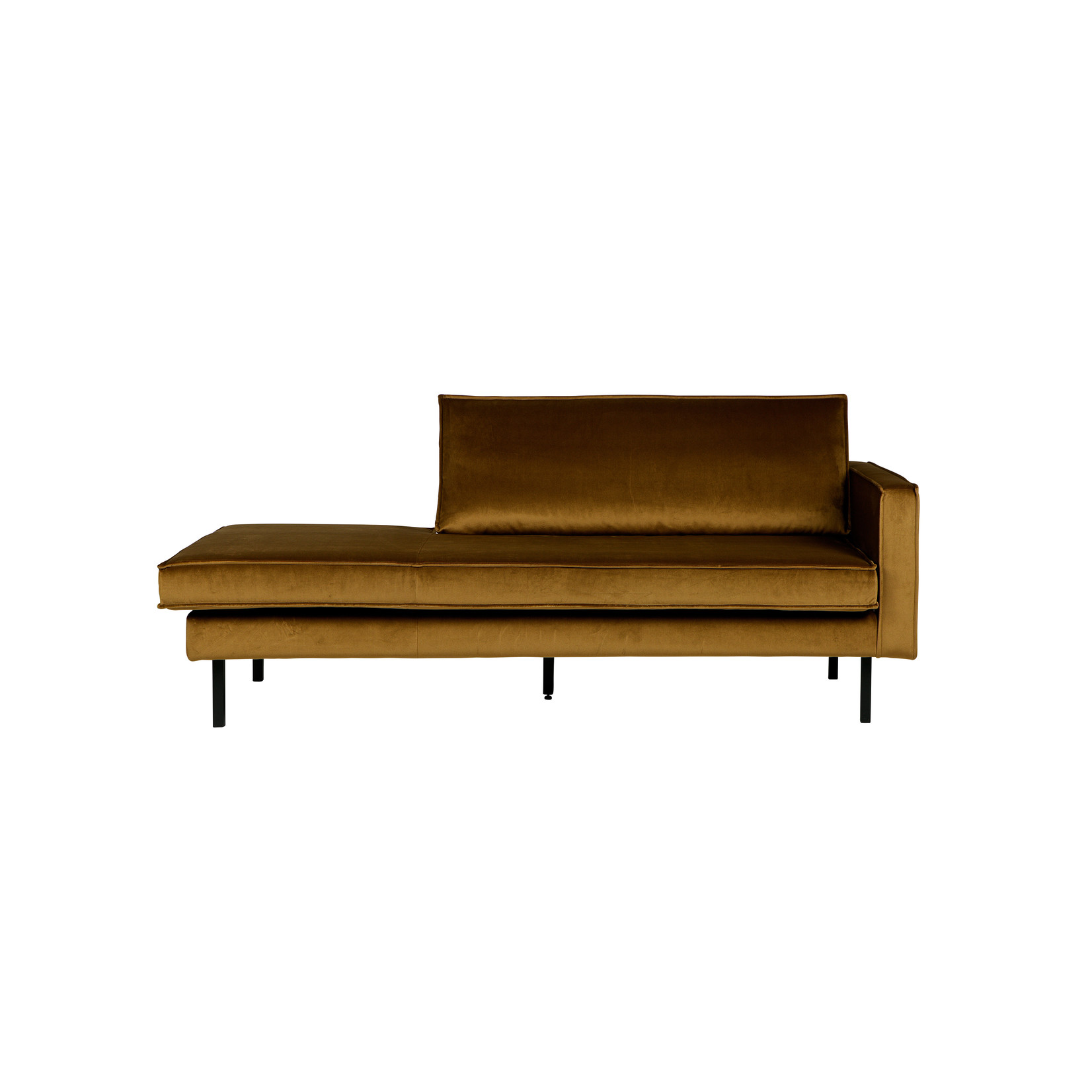 Be Pure Home Rodeo Daybed Right Velvet Honing Geel