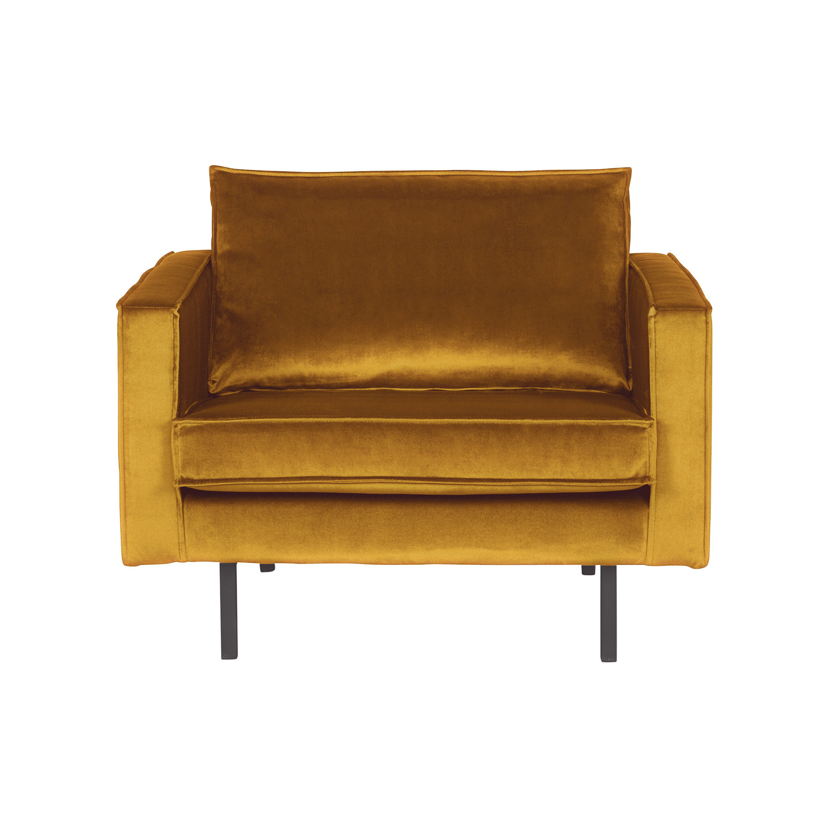 Be Pure Home Rodeo Fauteuil Velvet Oker