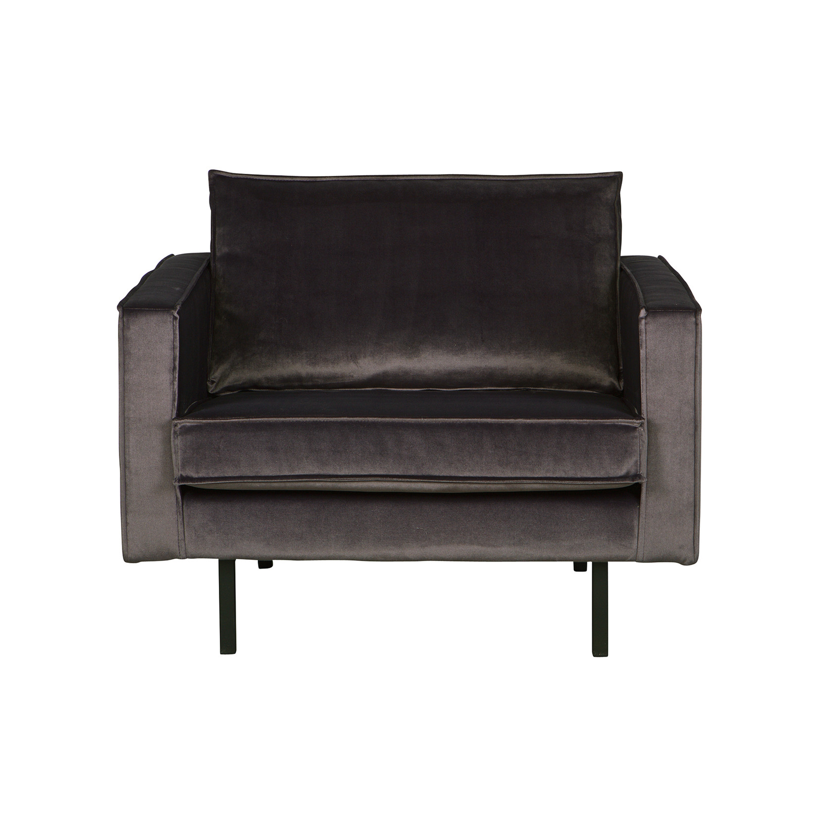 Be Pure Home Rodeo Fauteuil Velvet Antraciet