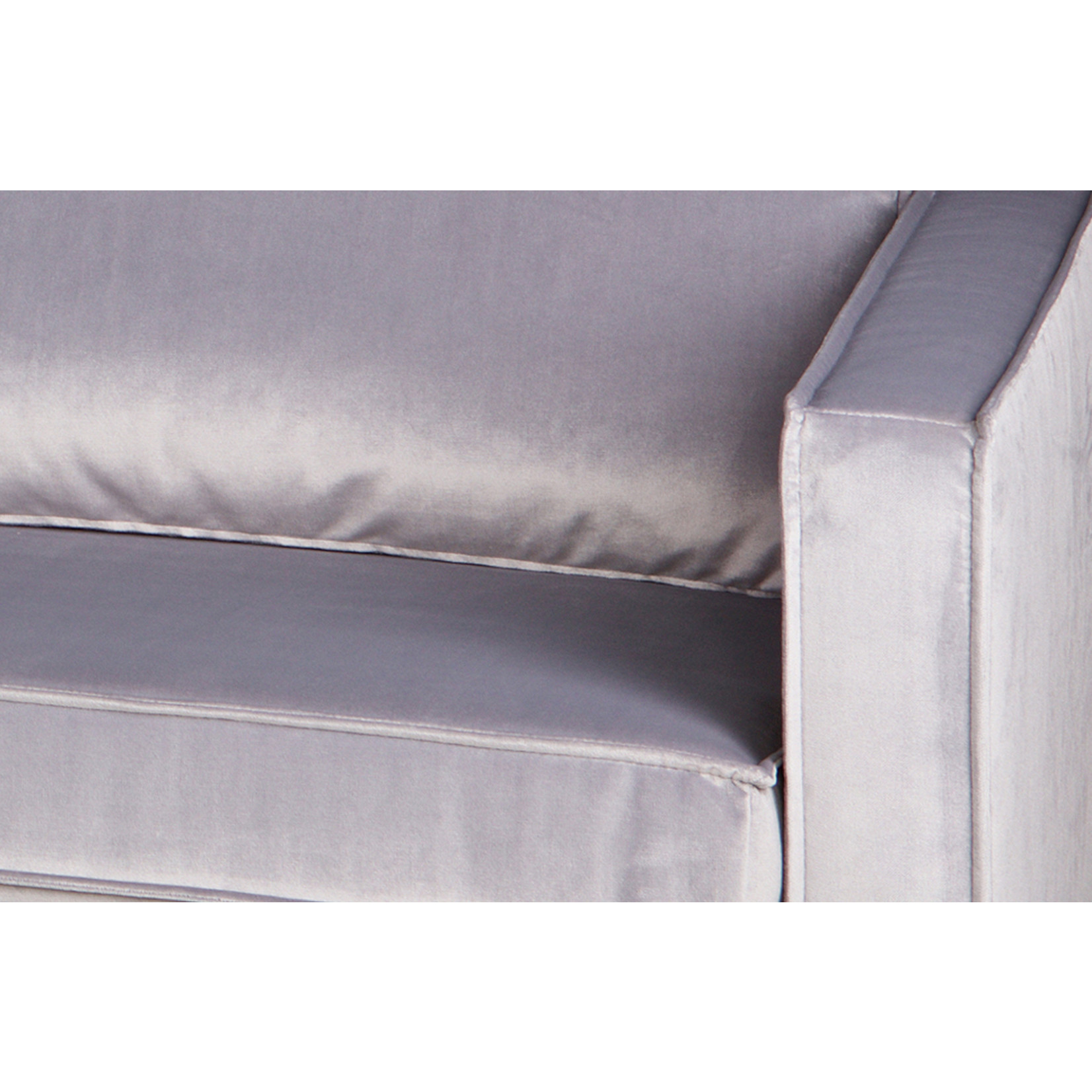Be Pure Home Rodeo Daybed Right Velvet Lichtgrijs