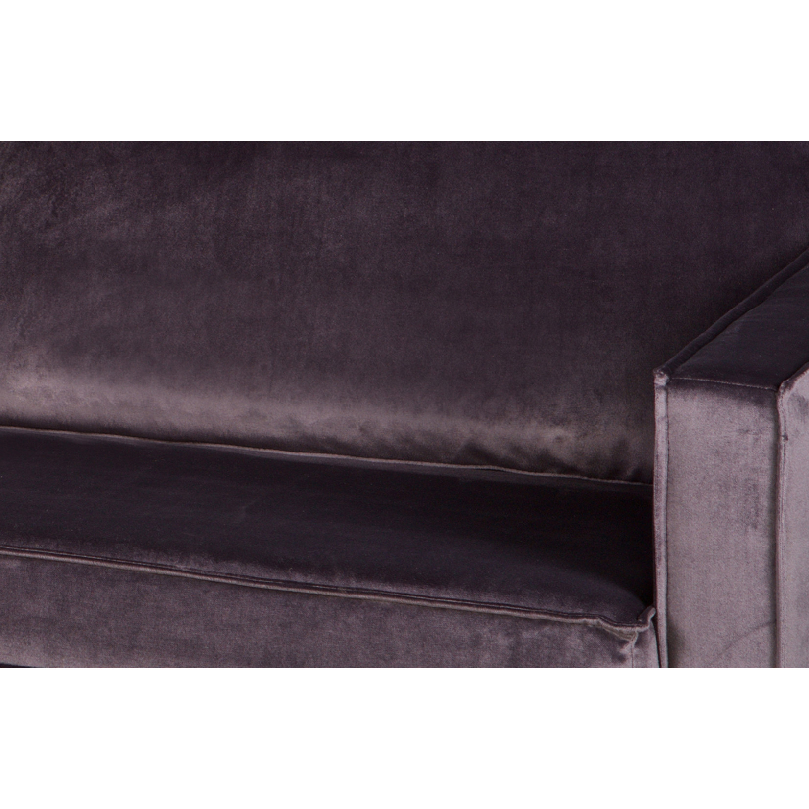Be Pure Home Rodeo Daybed Right Velvet Dark Grey