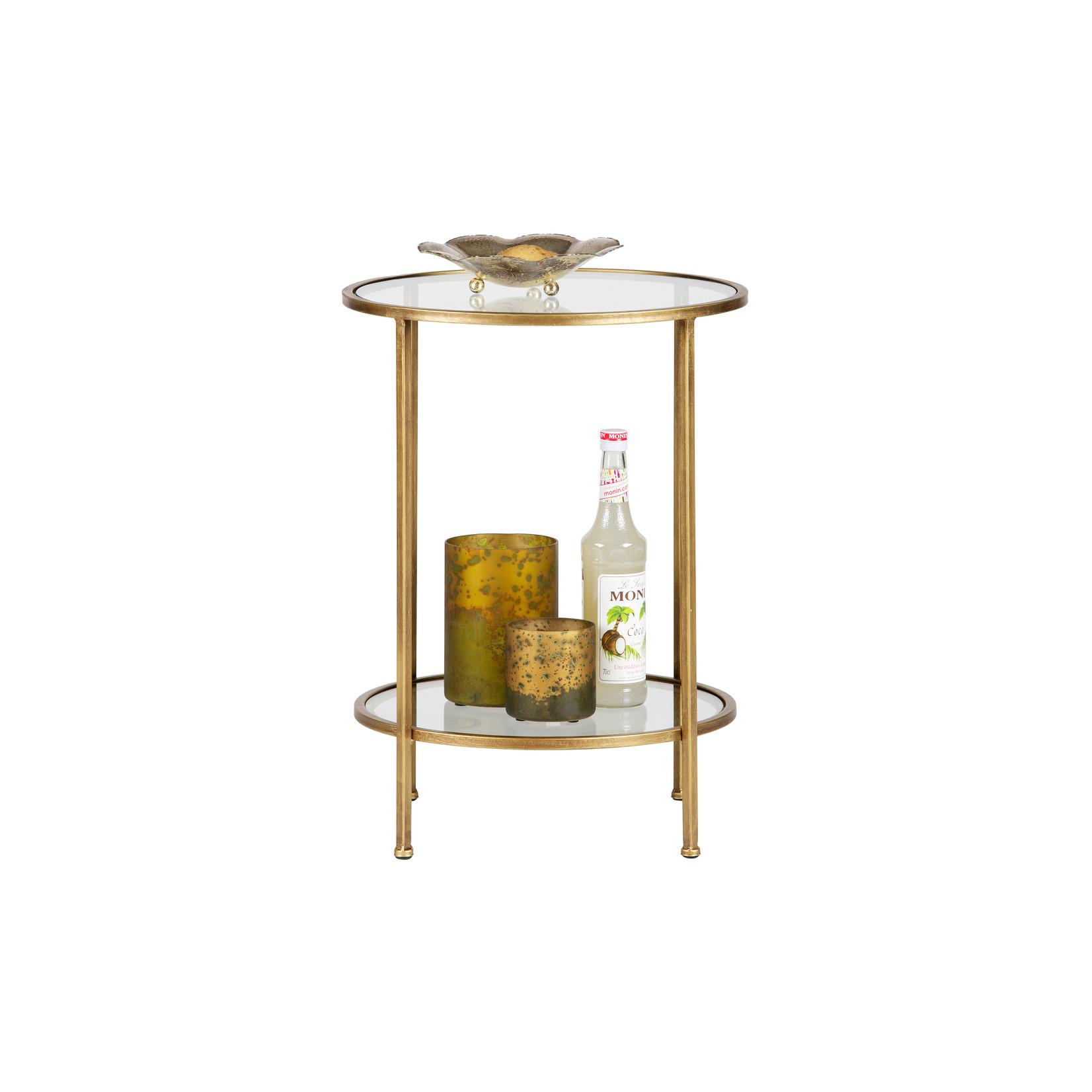 Be Pure Home Goddess Bijzettafel Metaal Antique Brass