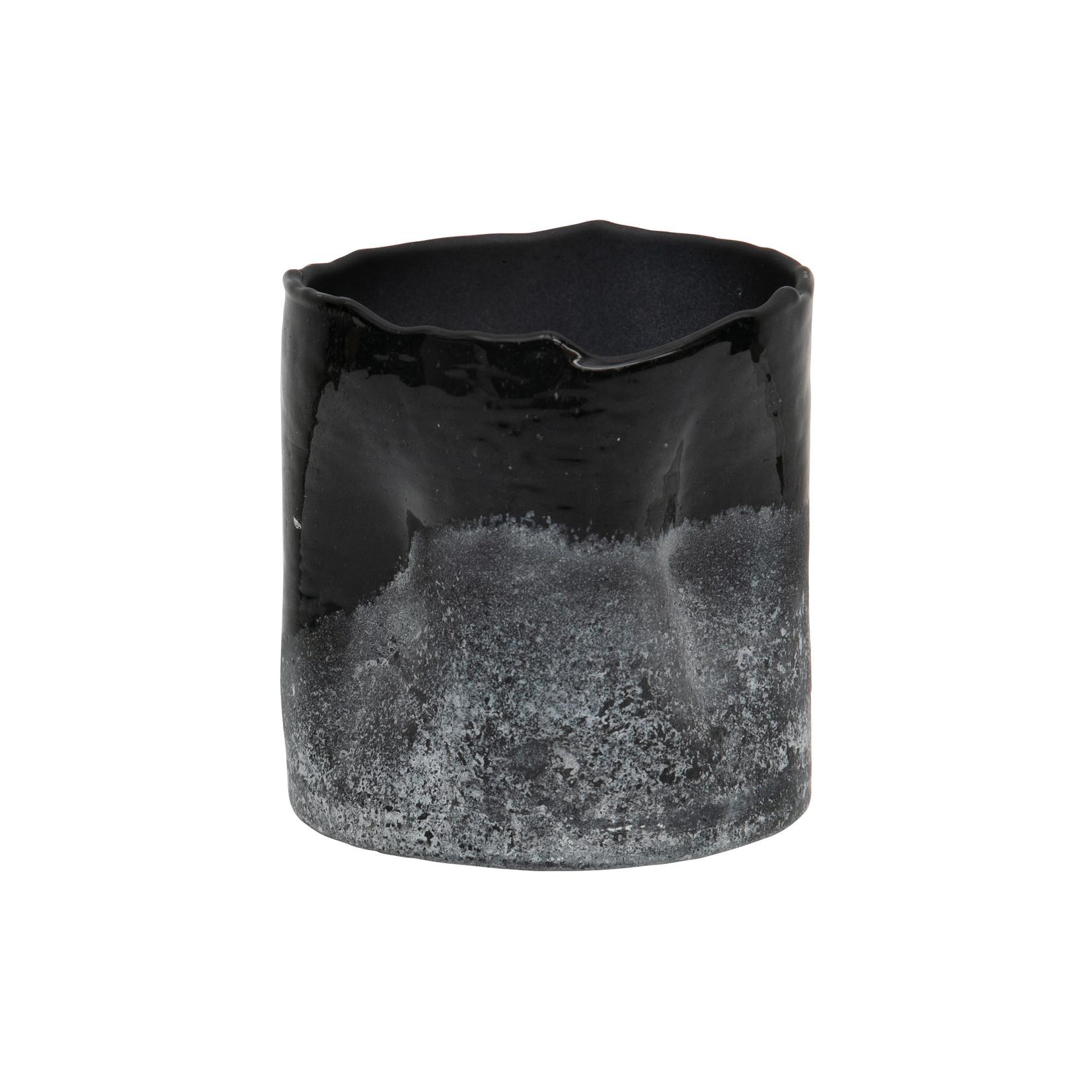 Be Pure Home Frosted Glazen Licht Zwart/wit 10x10cm*