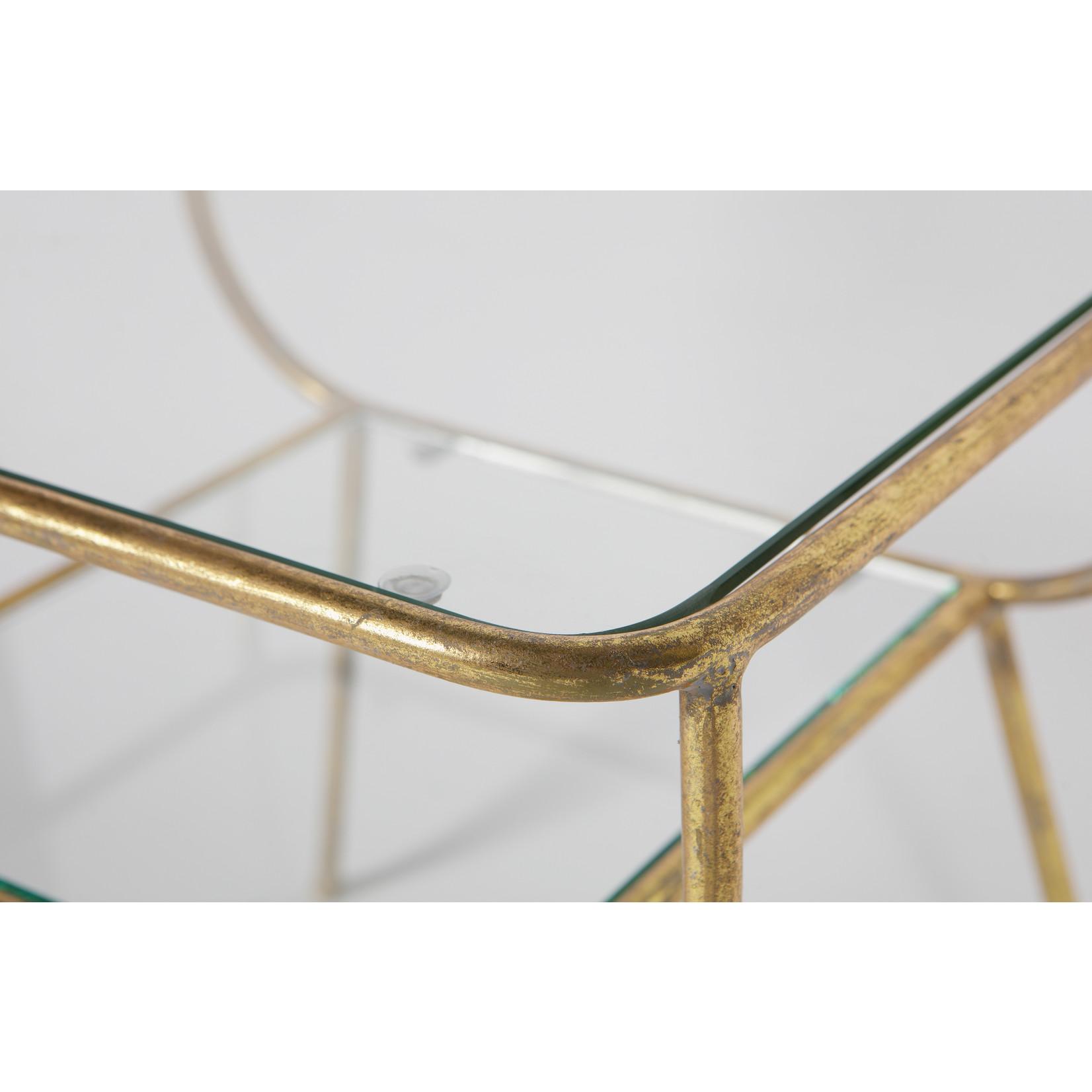 Be Pure Home Amazing Bijzettafel Metaal/glas Antique Brass