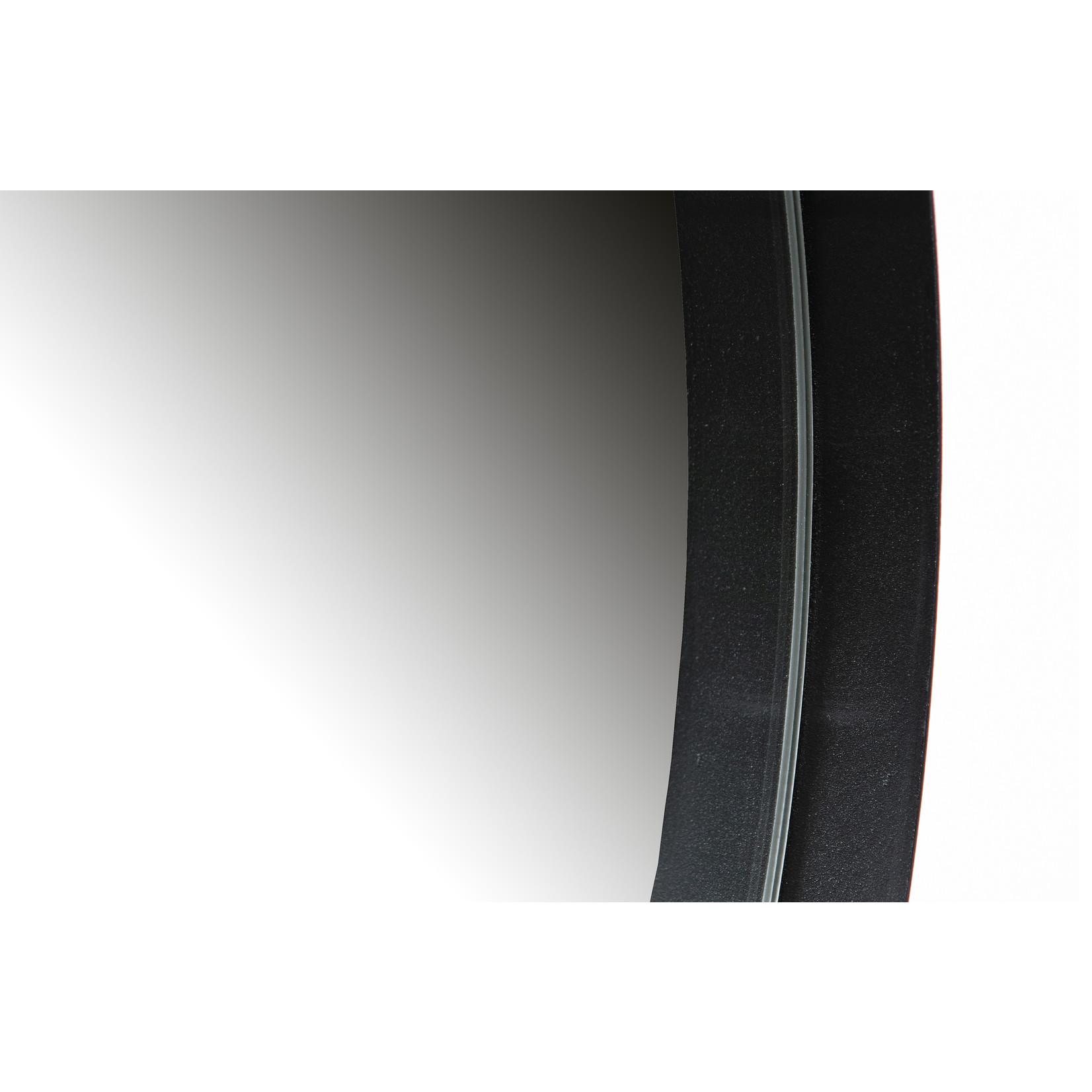 Woood Doutzen Spiegel Metaal Zwart Ø115cm