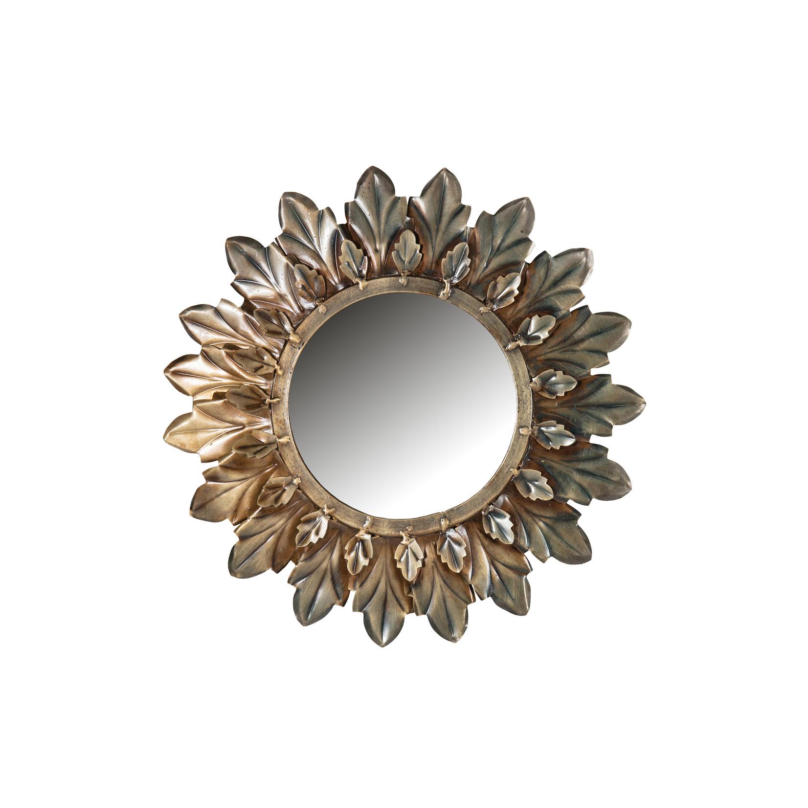 Be Pure Home Sunshine Spiegel Metaal Antique Brass Ø27cm