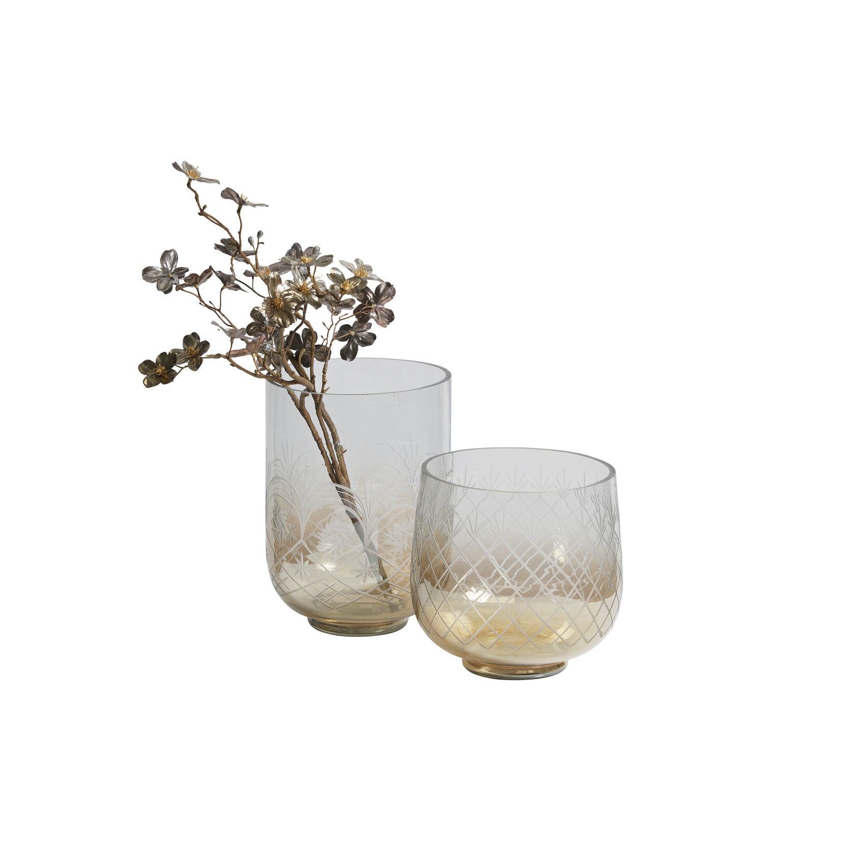 Be Pure Home Heirloom Vaas M Glas Met Bruine Glans*