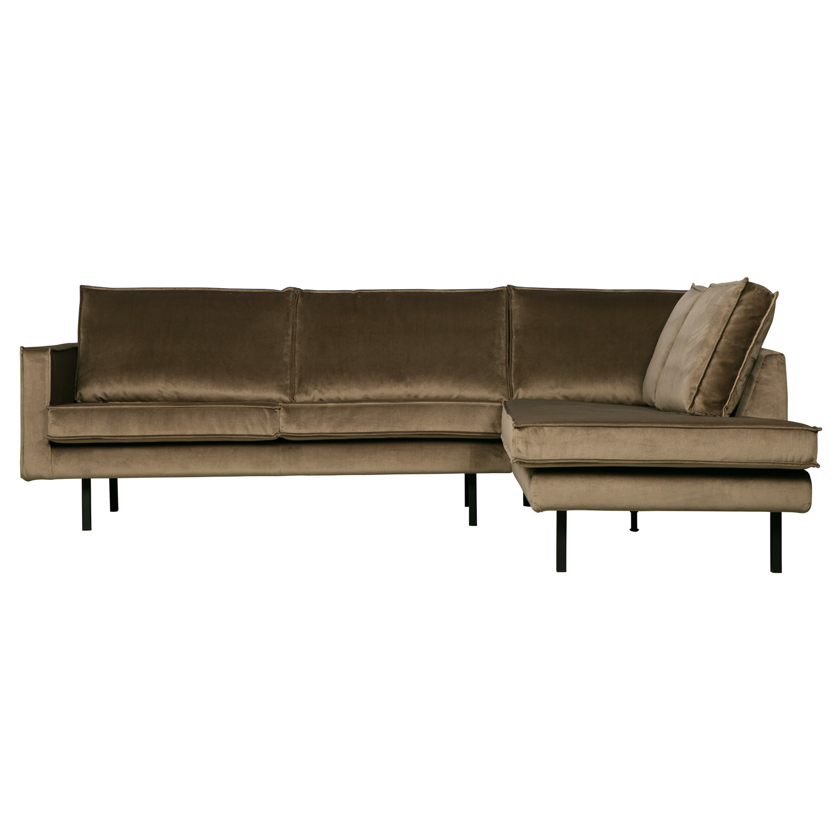 Be Pure Home Rodeo Hoekbank Rechts Velvet Taupe