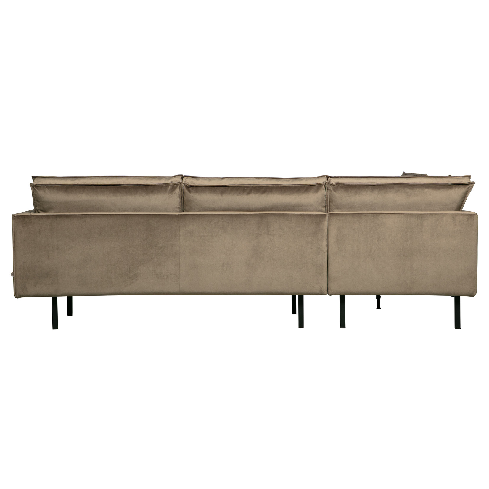 Be Pure Home Rodeo Hoekbank Links Velvet Taupe