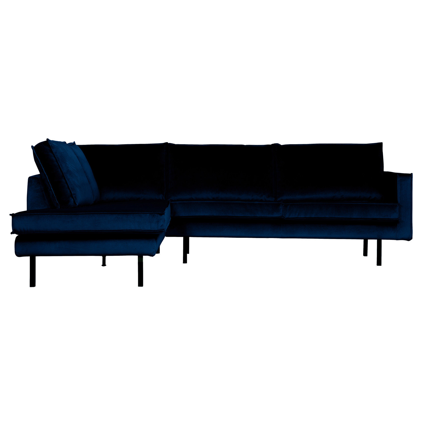 Be Pure Home Rodeo Hoekbank Links Velvet Dark Blue Nightshade