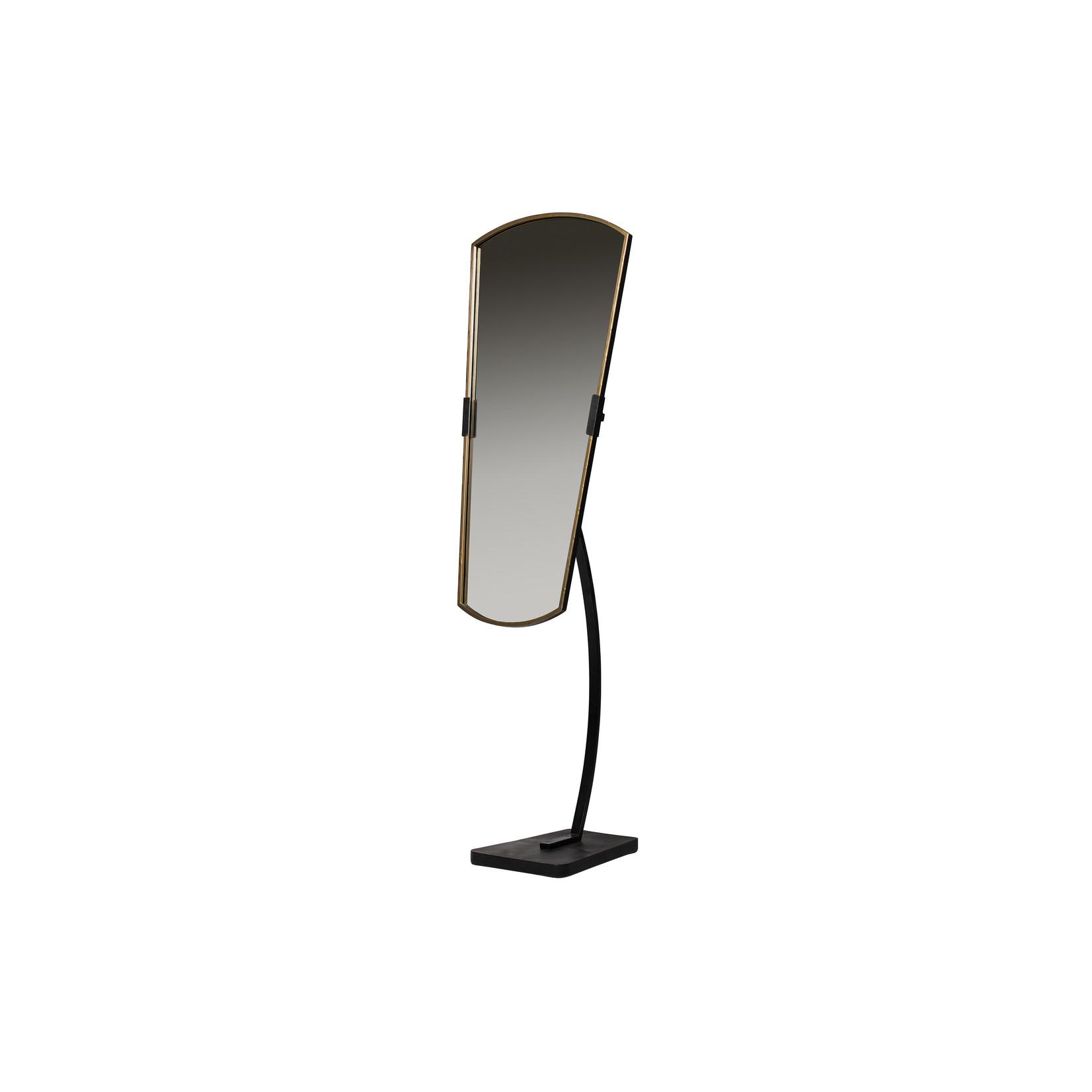 Be Pure Home Arrogant Staande Spiegel 166cm Metaal Zwart/antique Brass