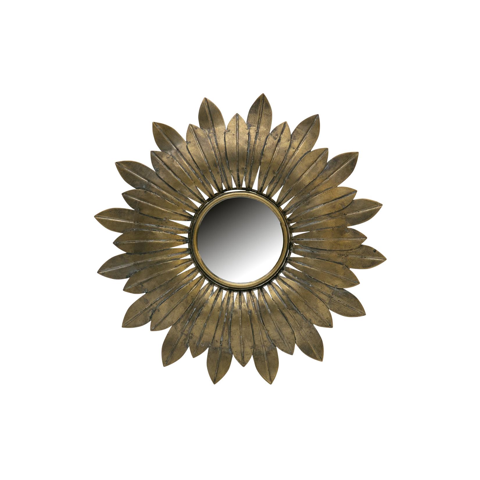 Be Pure Home Confess Spiegel Metaal Antique Brass Ø32cm*