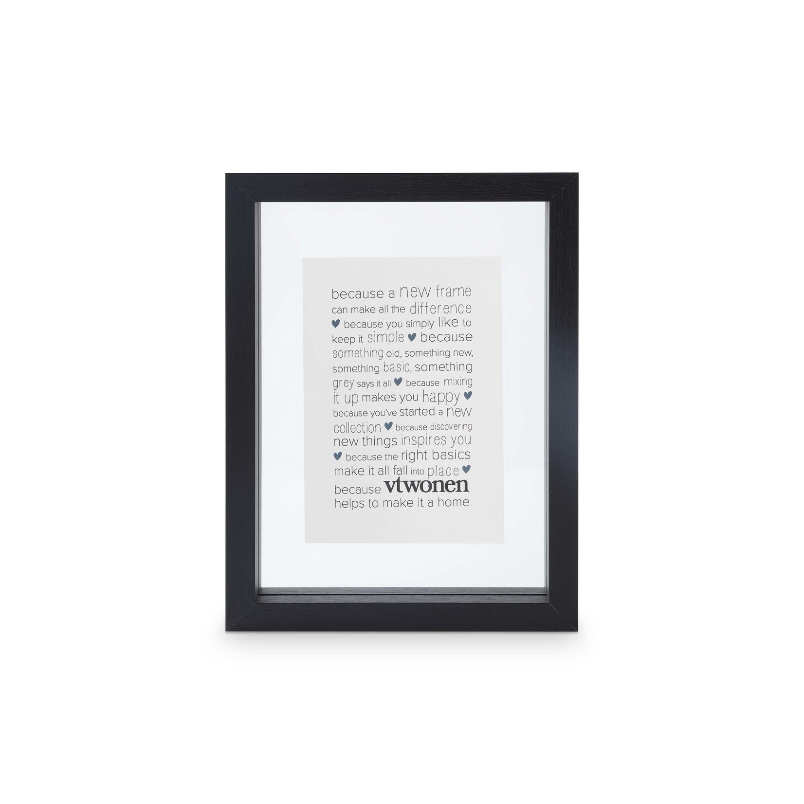 vtwonen vtwonen   Photo Frame Wood Black a6 18x24cm