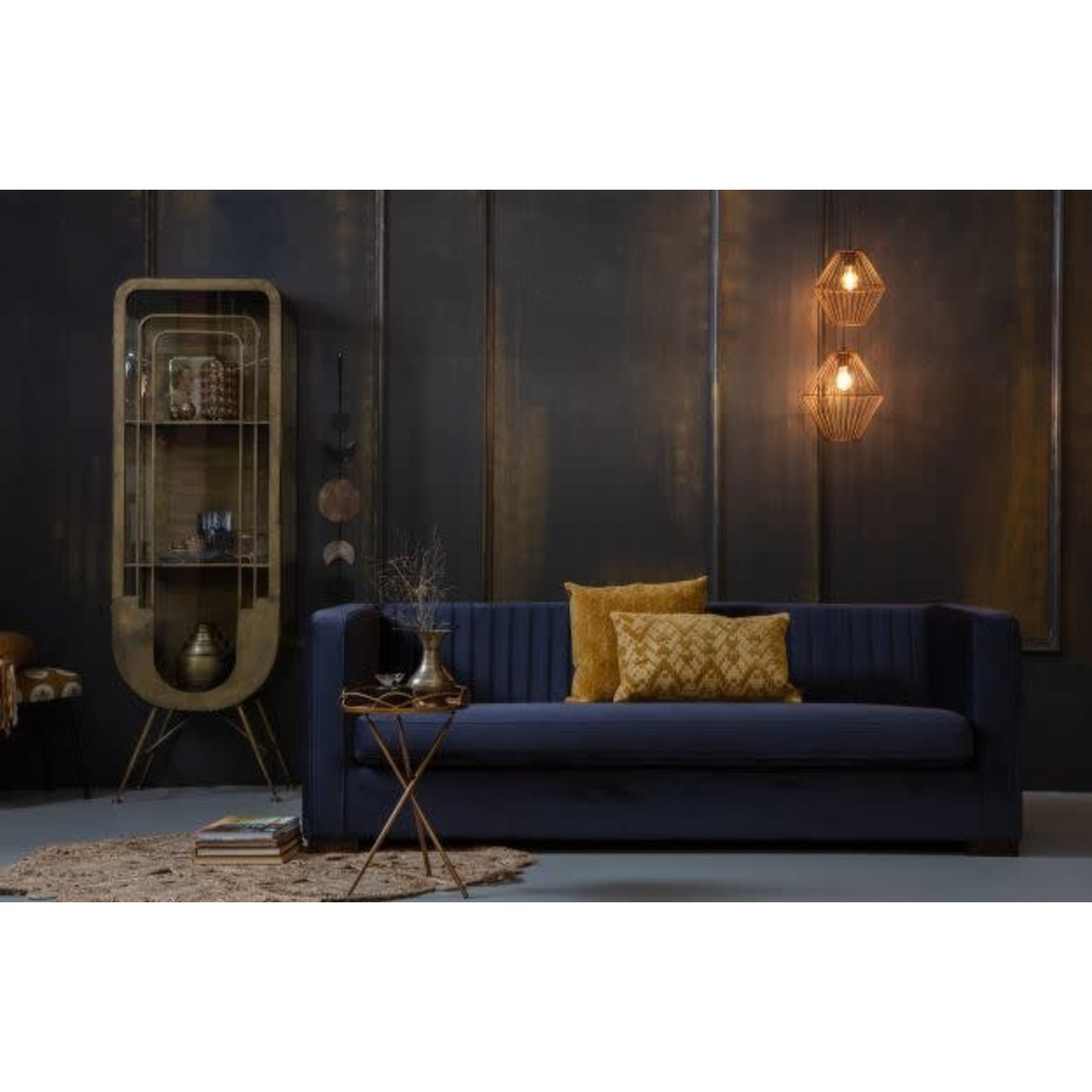 Be Pure Home Be Pure Home Nouveau bank 215 cm fluweel inkt