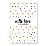 Jots Jots   Wenskaart With Love A5
