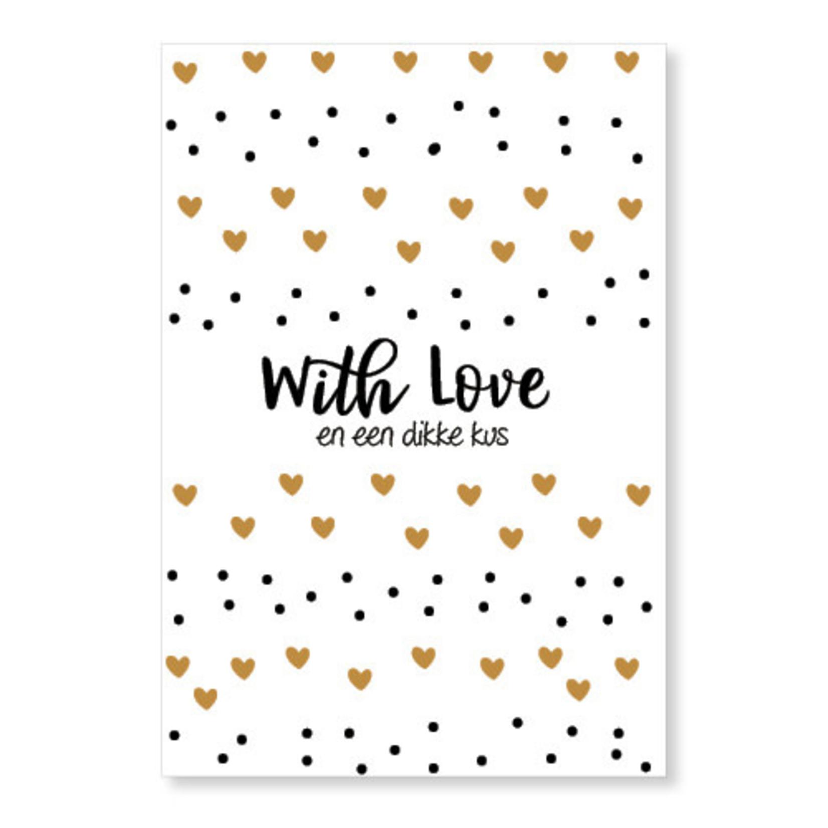 Jots Jots | Wenskaart With Love A5