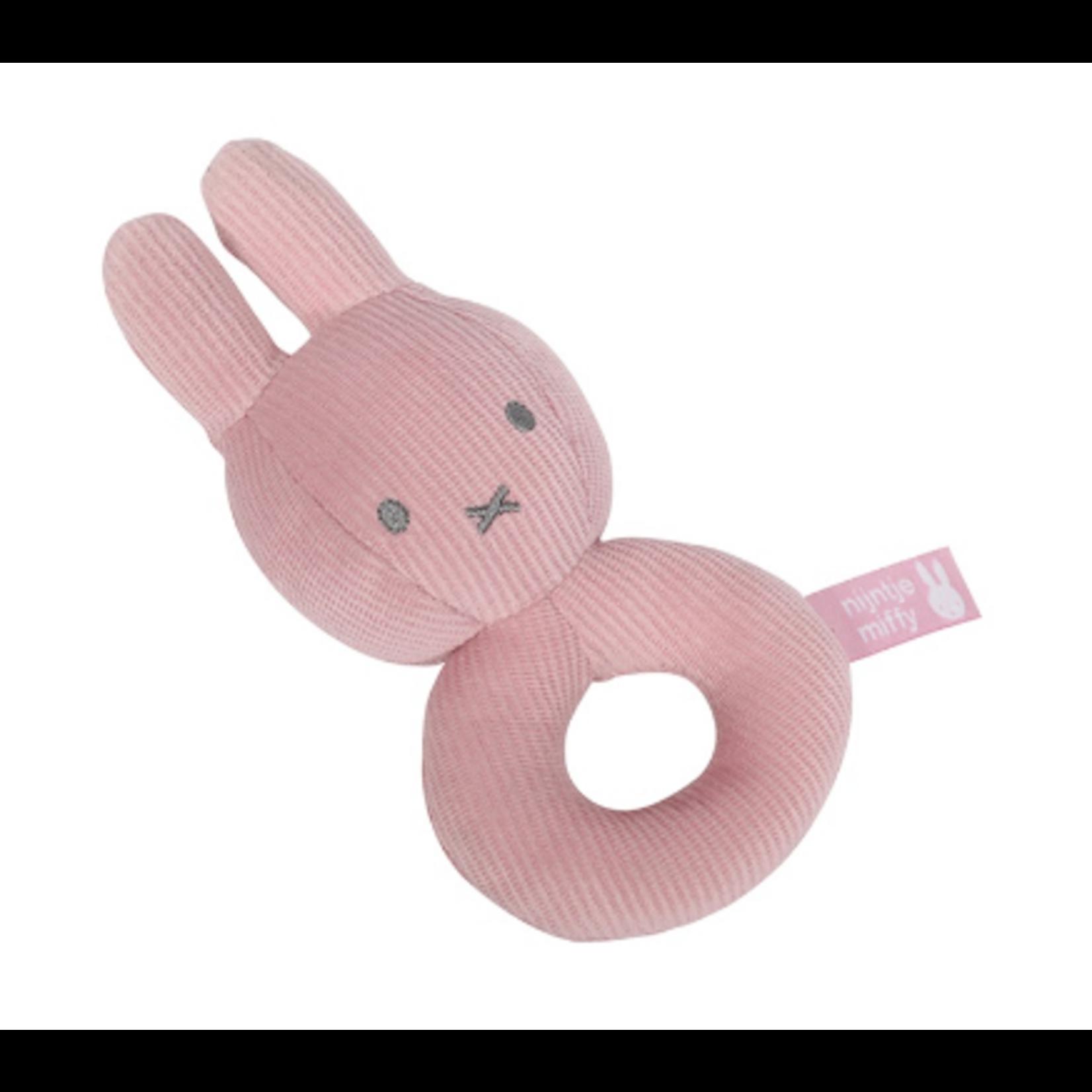 Little Dutch Nijntje Pink Baby Rib Rammelaar