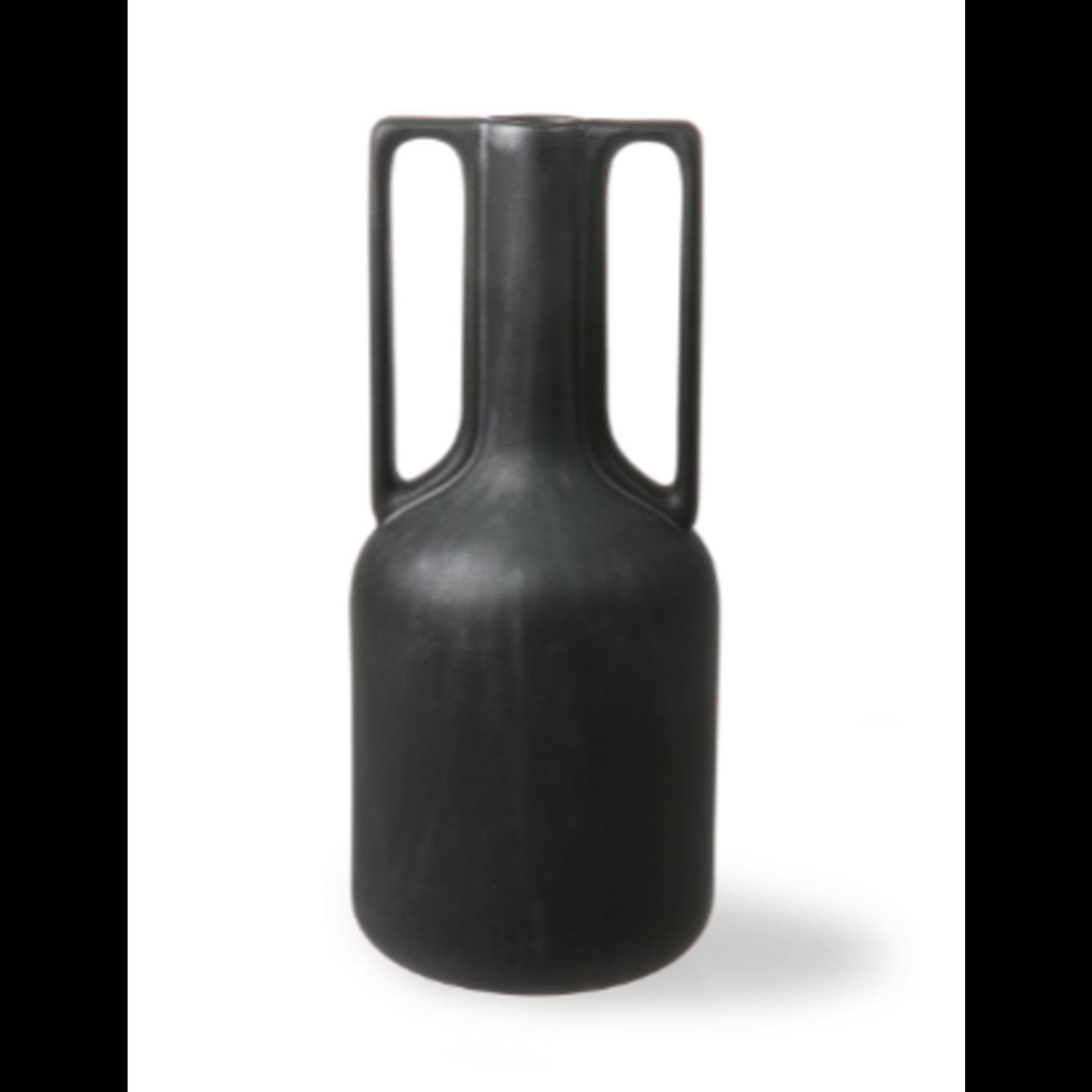 HK Living HK Living Ceramic Vase black with handles