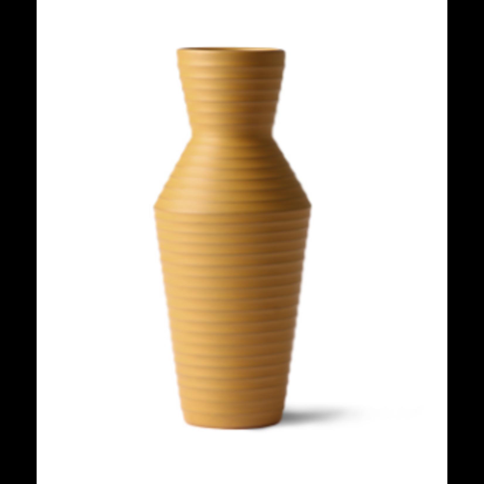 HK Living HK Living Ceramic Flower Vase Ochre