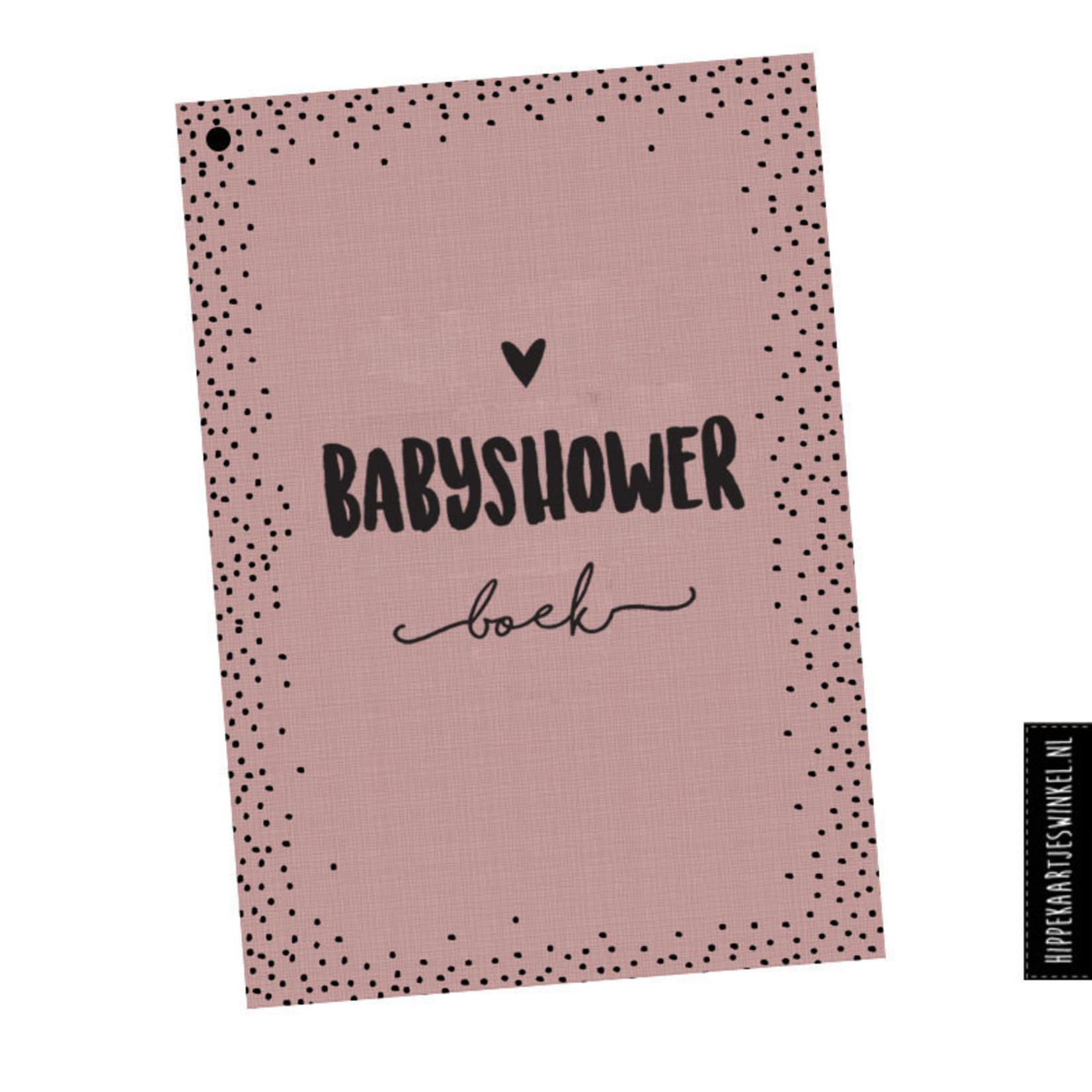 Hippekaartjes | Babyshowerboek roze