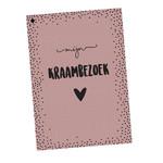 Hippekaartjes Hippekaartjes | Kraambezoekboek roze