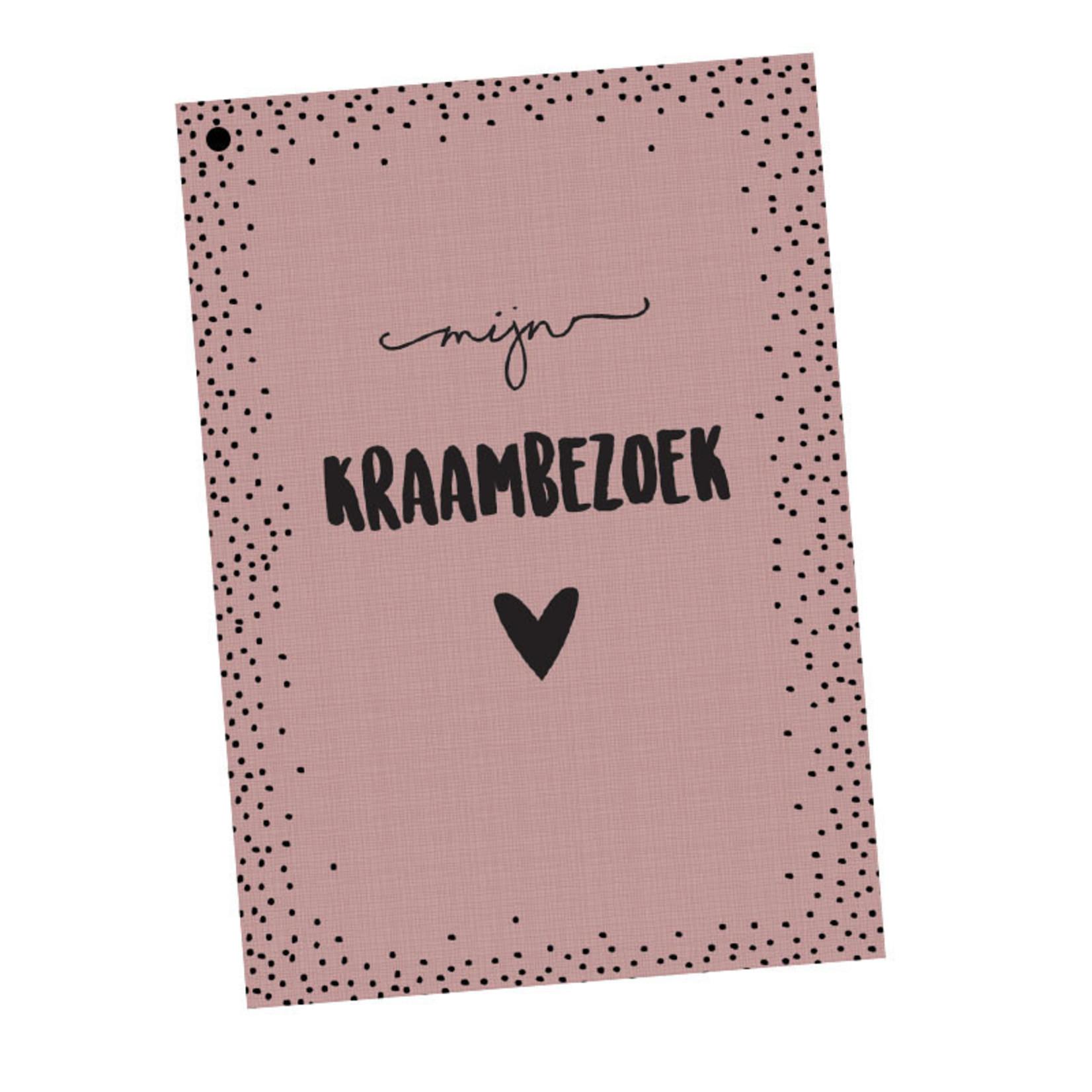 Hippekaartjes Hippekaartjes   Kraambezoekboek roze