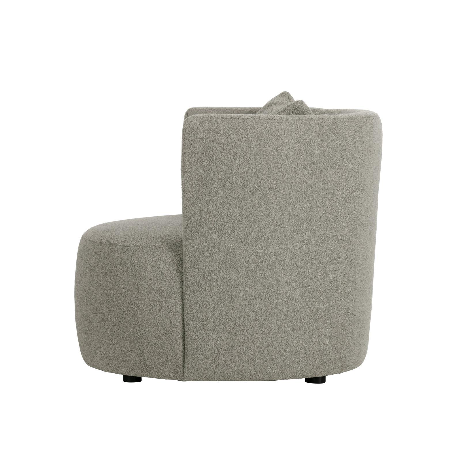 vtwonen Explore fauteuil bouclÉ grijs