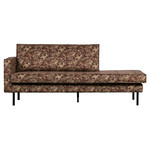 Be Pure Home Rodeo daybed left velvet bouquet chestnut