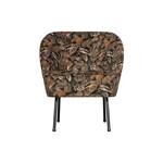 Be Pure Home Vogue fauteuil fluweel bouquet zwart
