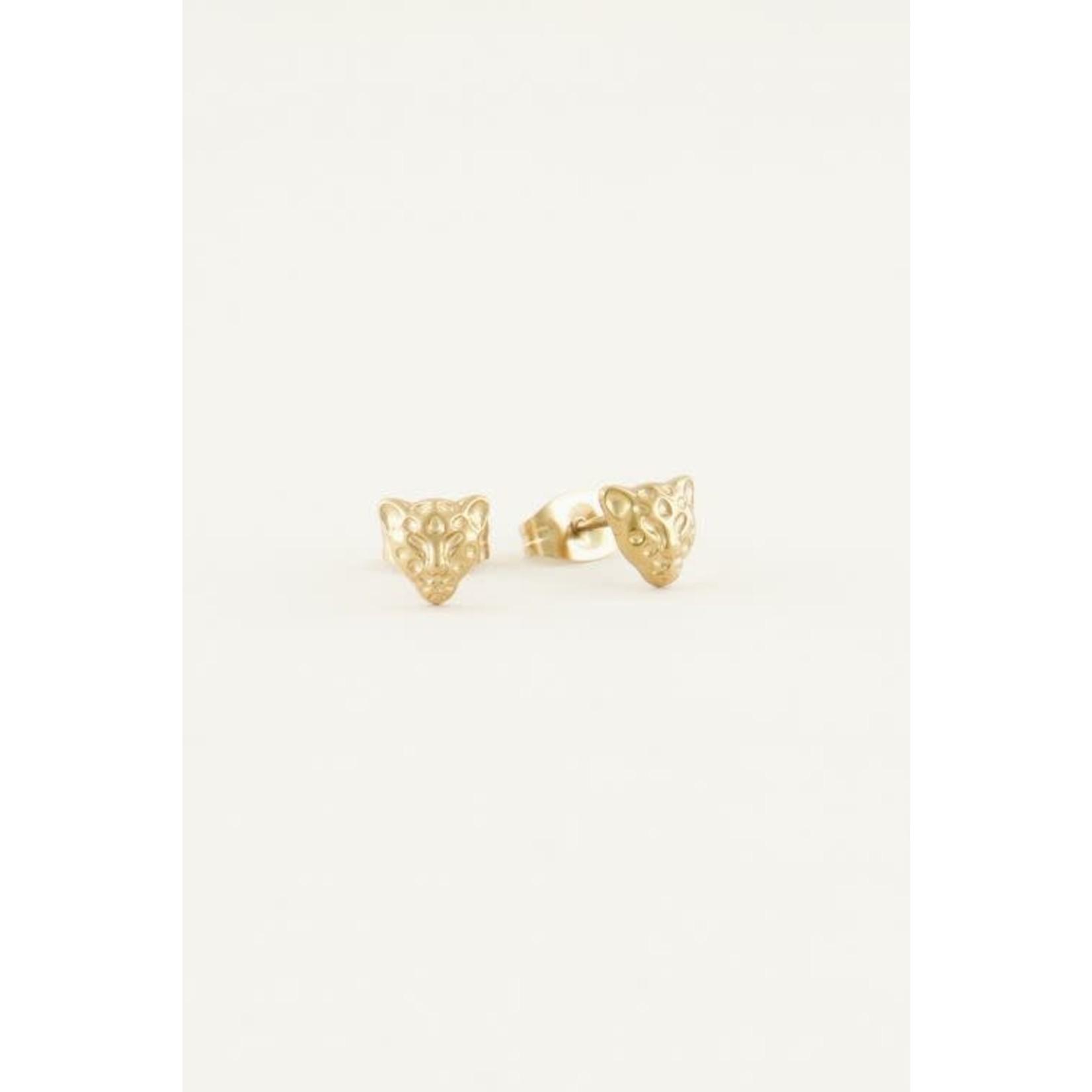My Jewellery My Jewellery Studs Luipaard Goud