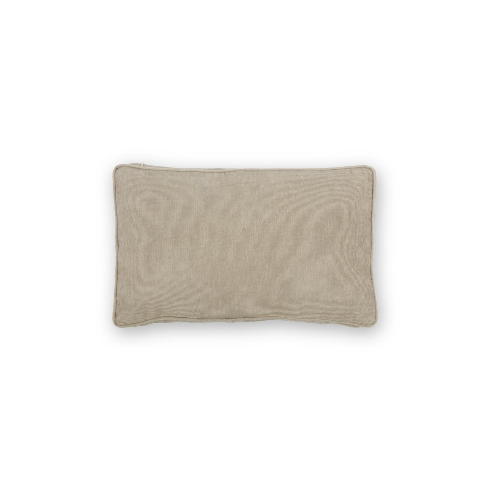 vtwonen Vtwonen   Cushion Rib Cord with Piping Warm Grey 30x50cm