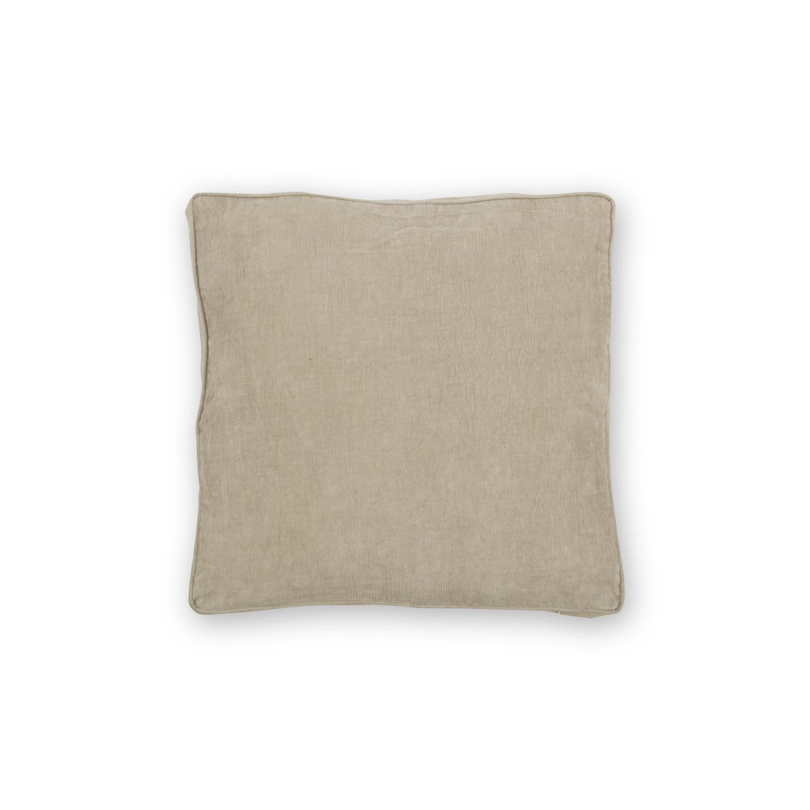 vtwonen Vtwonen   Cushion Rib Cord with Piping Warm Grey 50x50cm