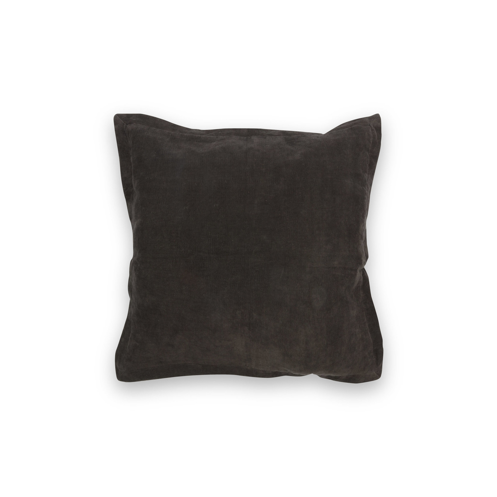 vtwonen Vtwonen   Cushion Rib Cord Open Volant Dark Brown 50x50cm
