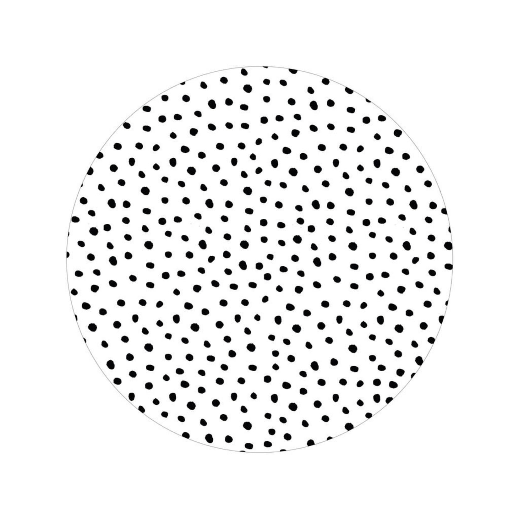 Zoedt Zoedt   Muurcirkel wit met dots 40cm