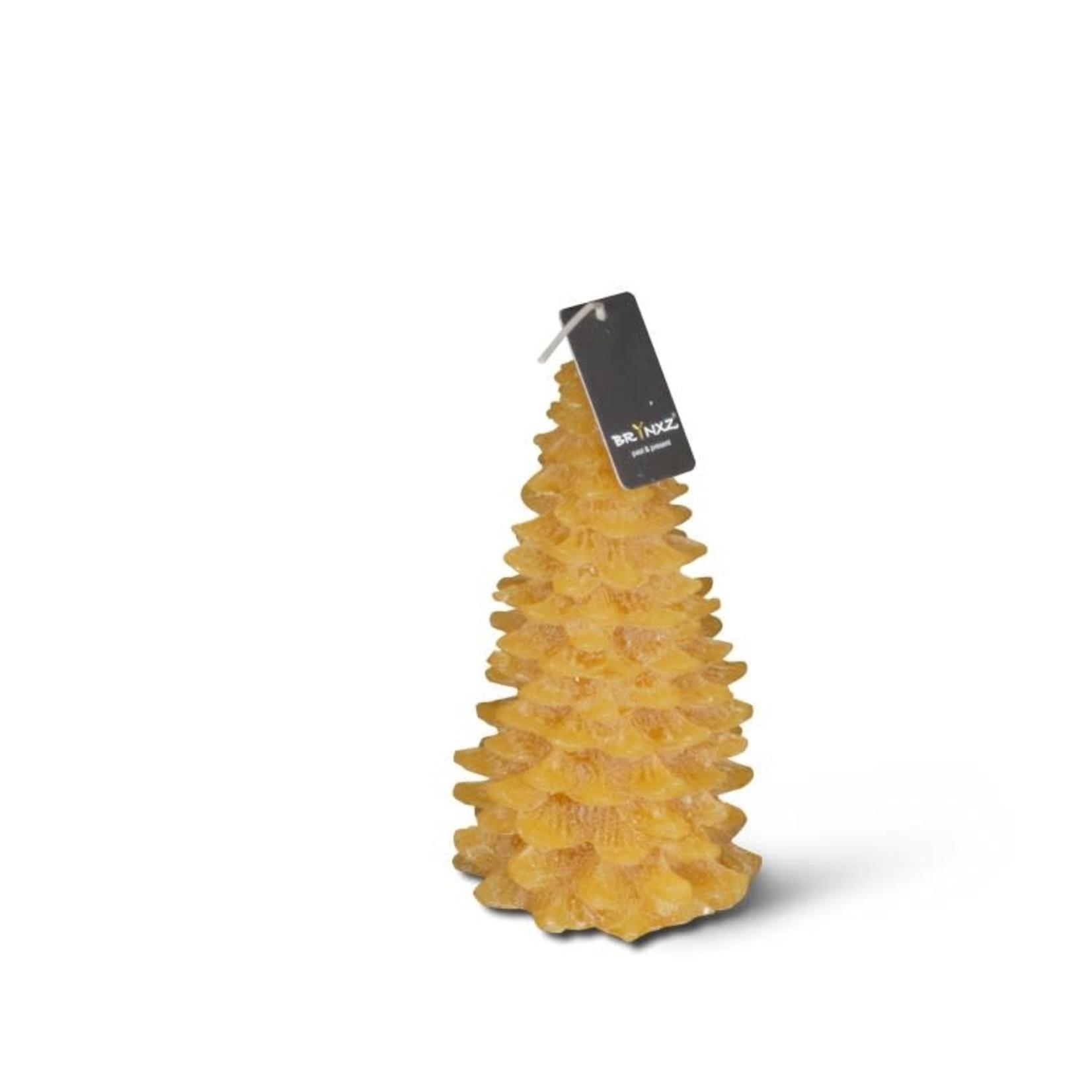Brynxz Brynxz candle x-tree classic honey yellow L 9x17cm