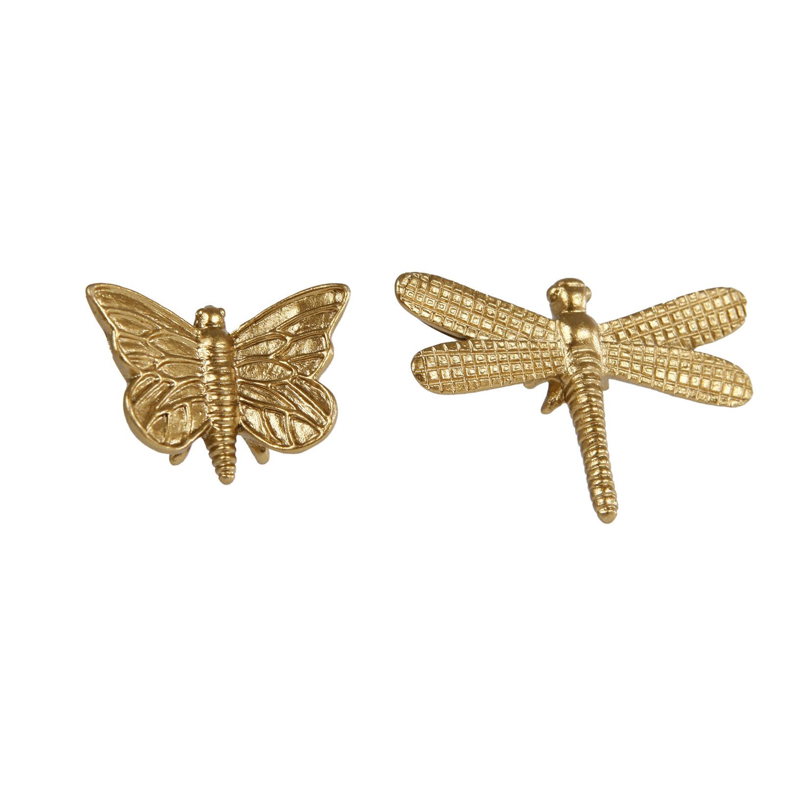 Ornament vlinder/libelle prijs per stuk 4 cm