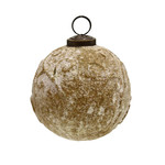 PTMD Christmas Lori rustic yellow glass hanging ball M